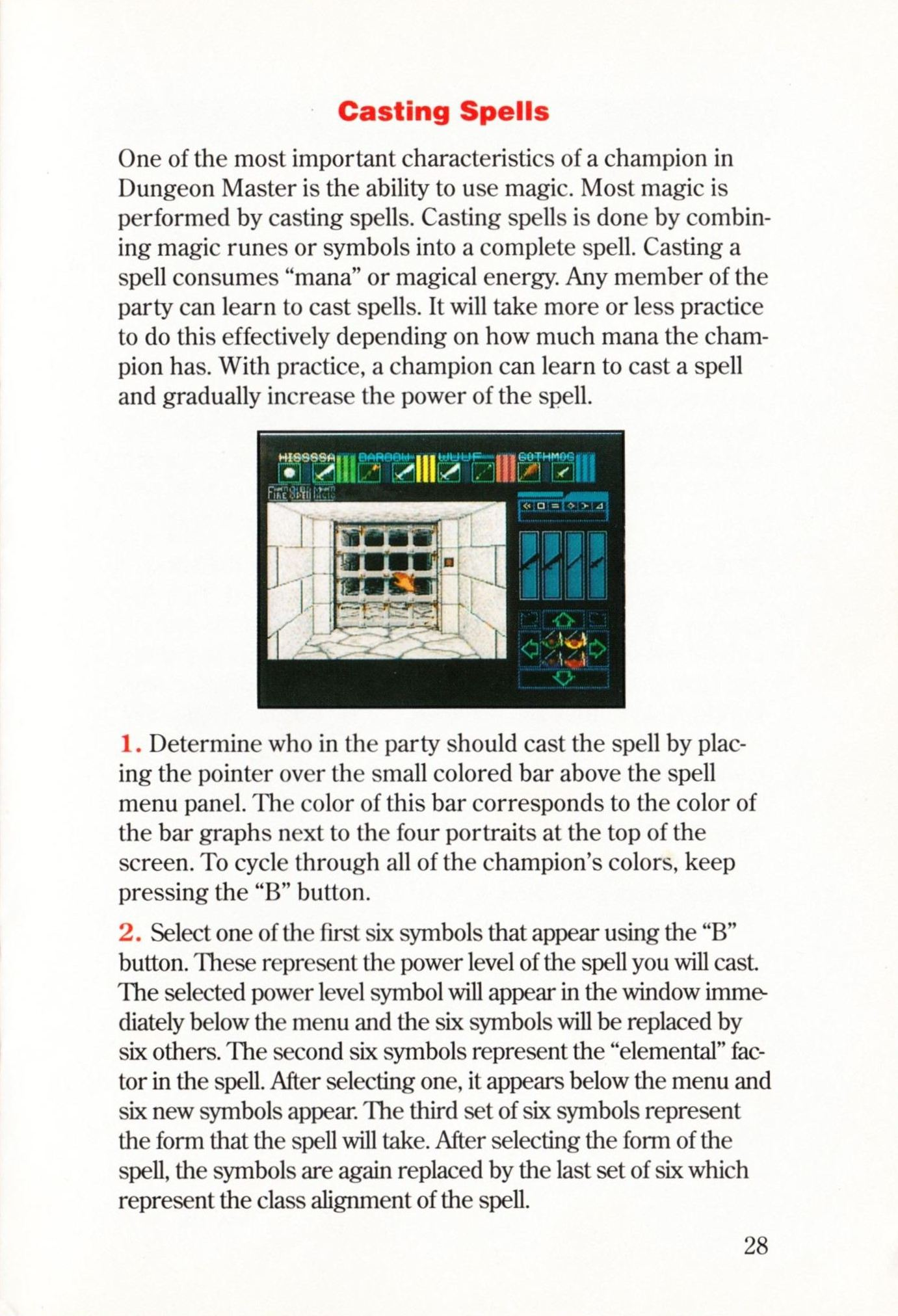 Game - Dungeon Master - US - Super NES - Manual - Page 031 - Scan