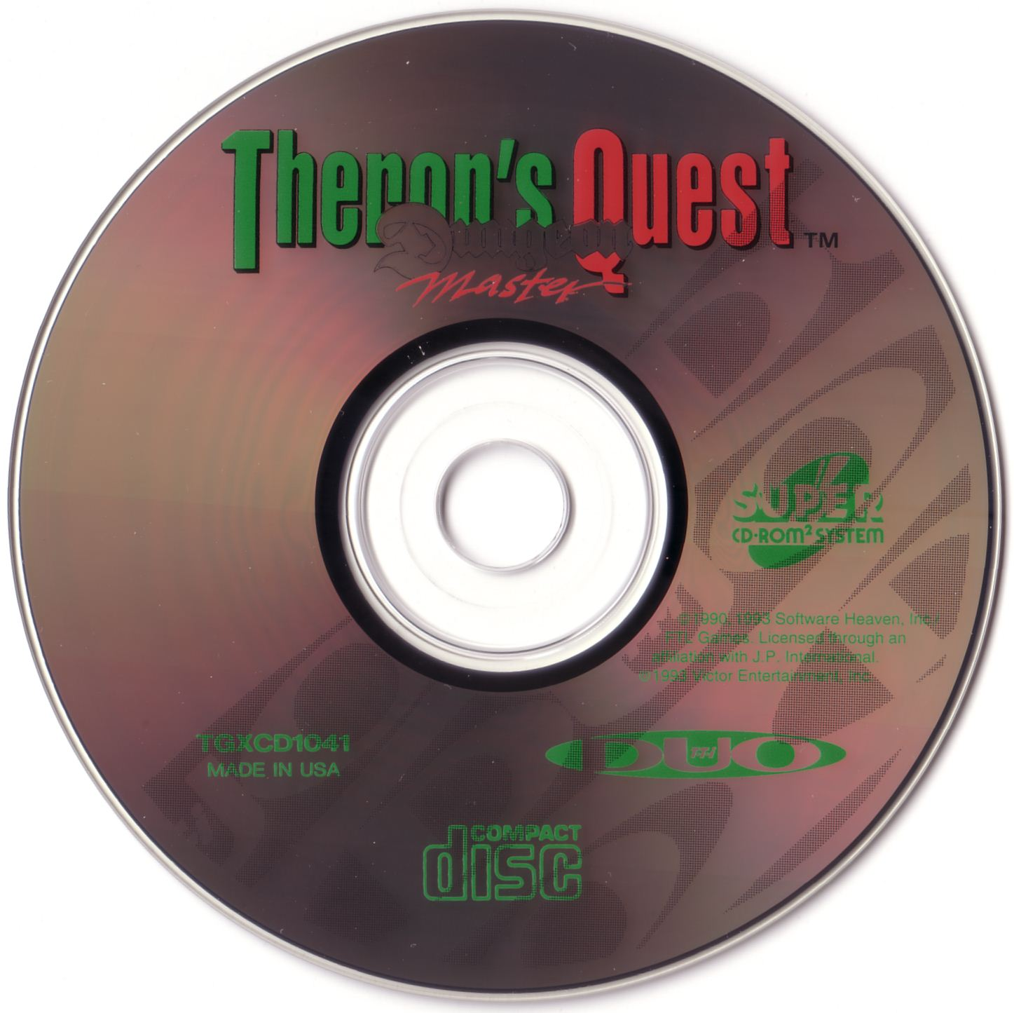 Game - Theron's Quest - US - Turbografx - Compact Disc - Front - Scan