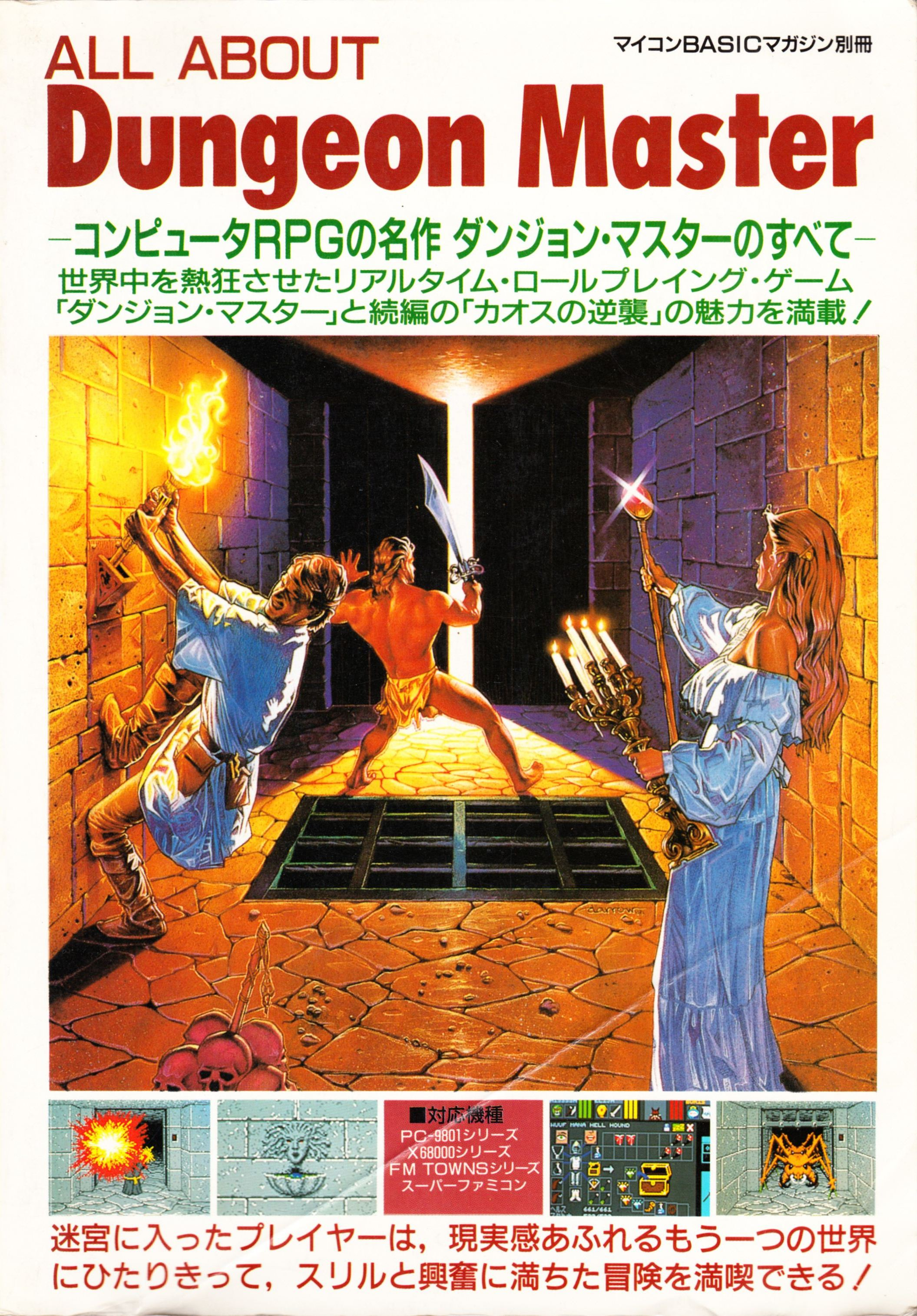Hint Book - All About Dungeon Master - JP - Cover - Front - Scan