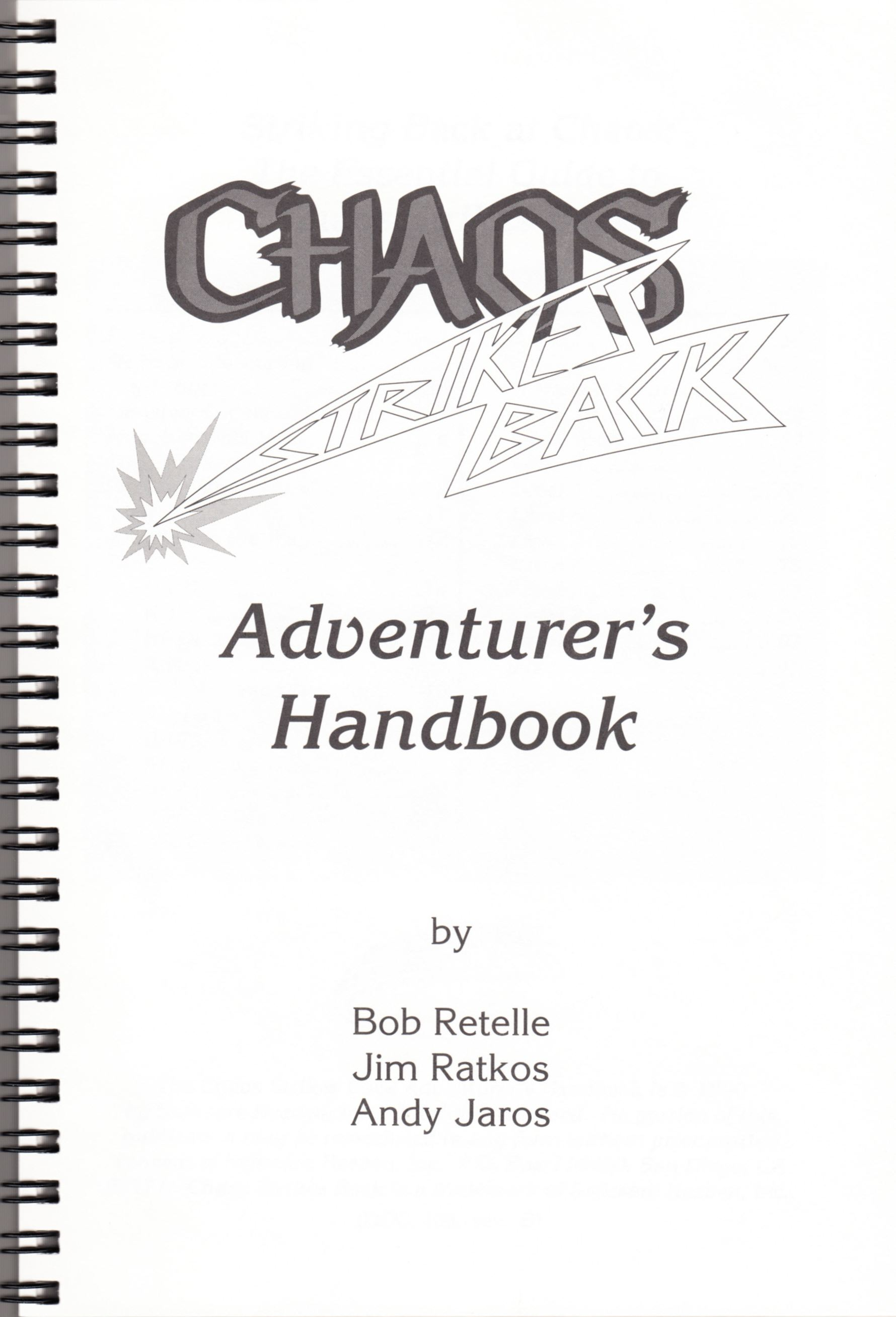 Hint Book - Chaos Strikes Back Adventurer's Handbook - US - Page 003 - Scan