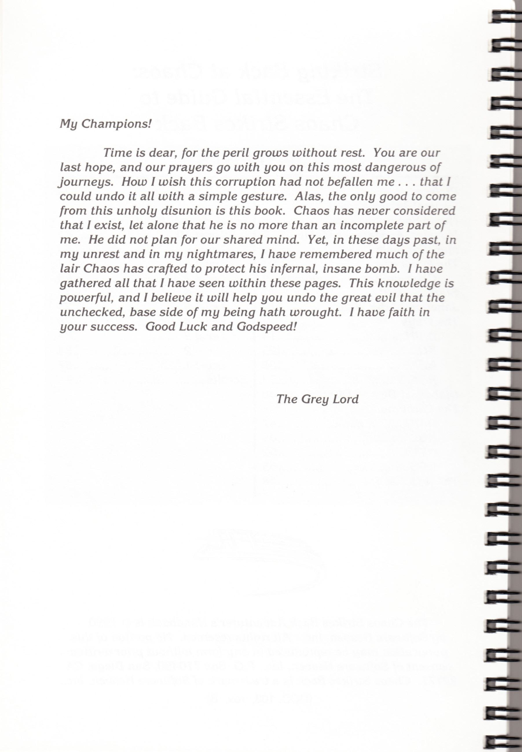 Hint Book - Chaos Strikes Back Adventurer's Handbook - US - Page 006 - Scan