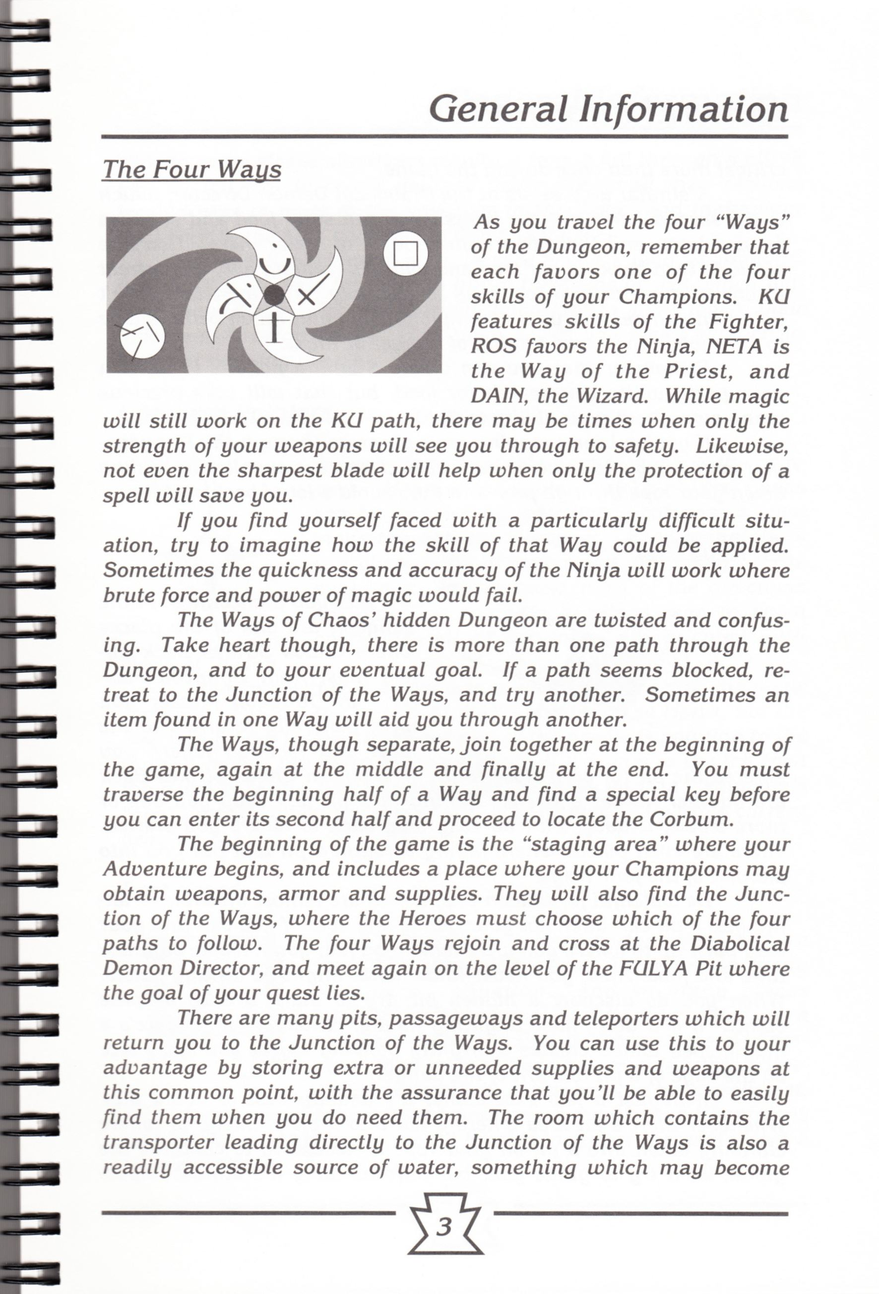 Hint Book - Chaos Strikes Back Adventurer's Handbook - US - Page 009 - Scan
