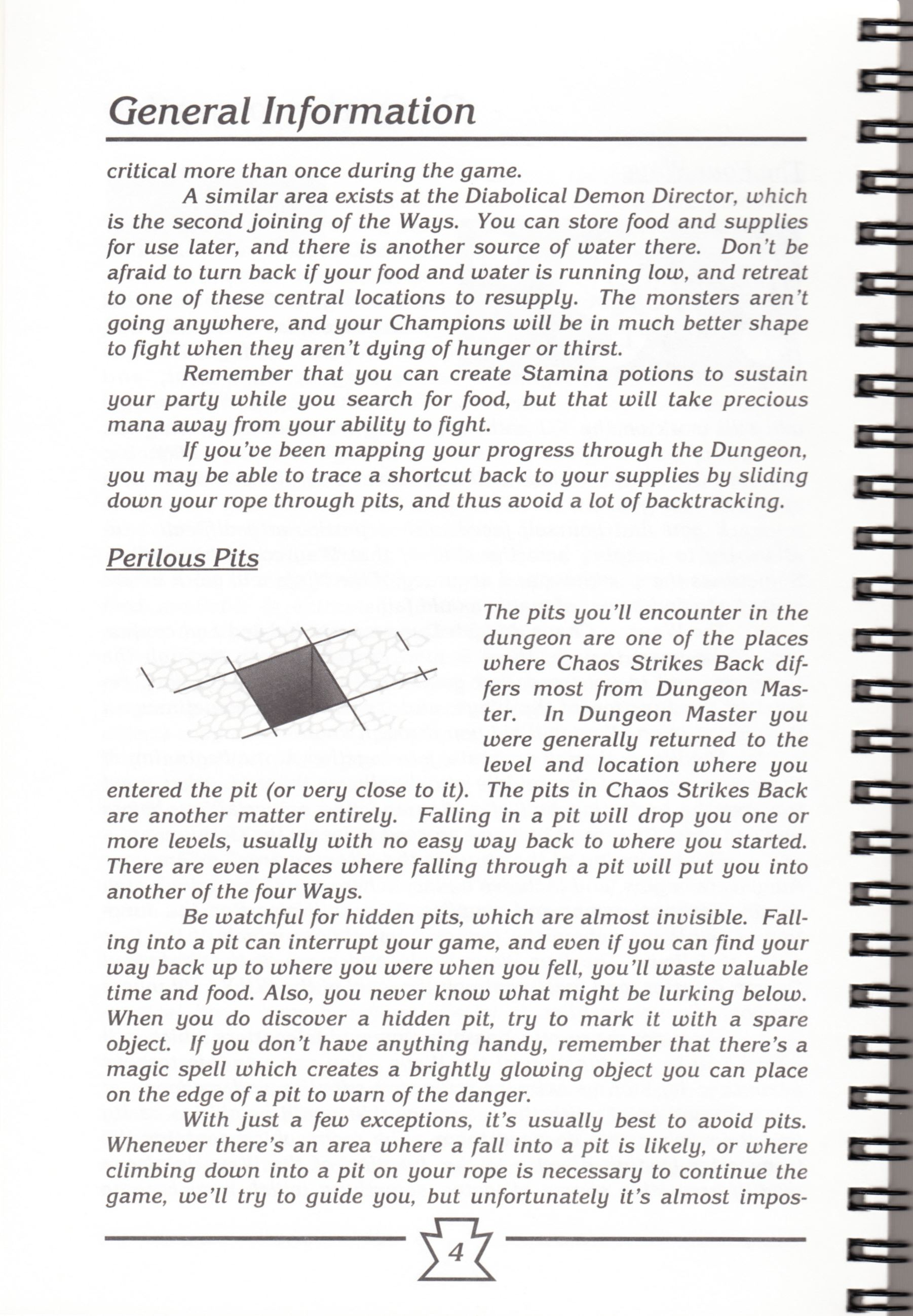 Hint Book - Chaos Strikes Back Adventurer's Handbook - US - Page 010 - Scan