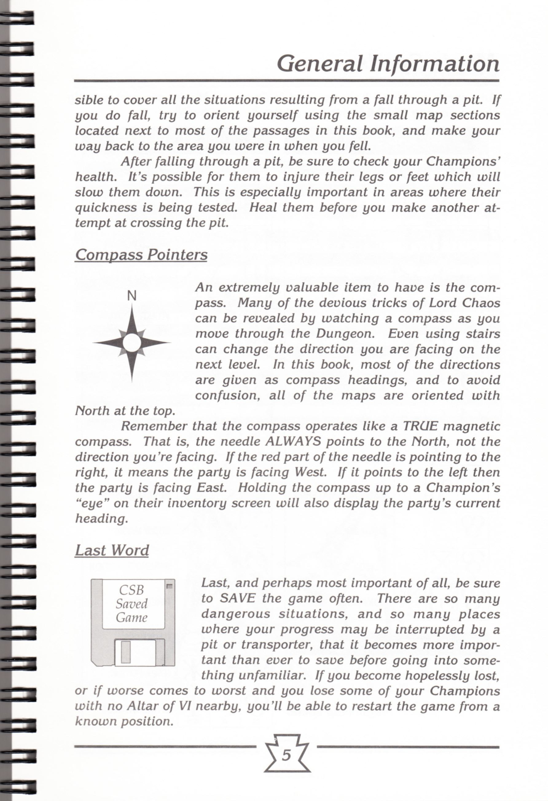 Hint Book - Chaos Strikes Back Adventurer's Handbook - US - Page 011 - Scan