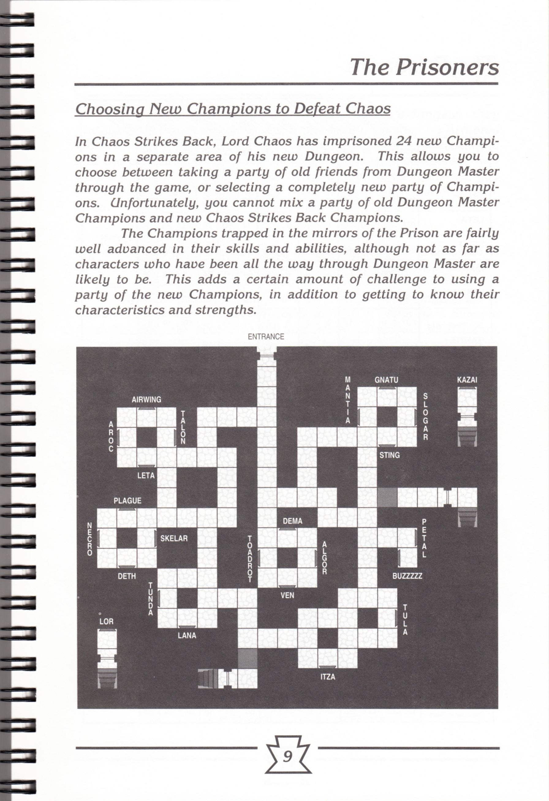 Hint Book - Chaos Strikes Back Adventurer's Handbook - US - Page 015 - Scan