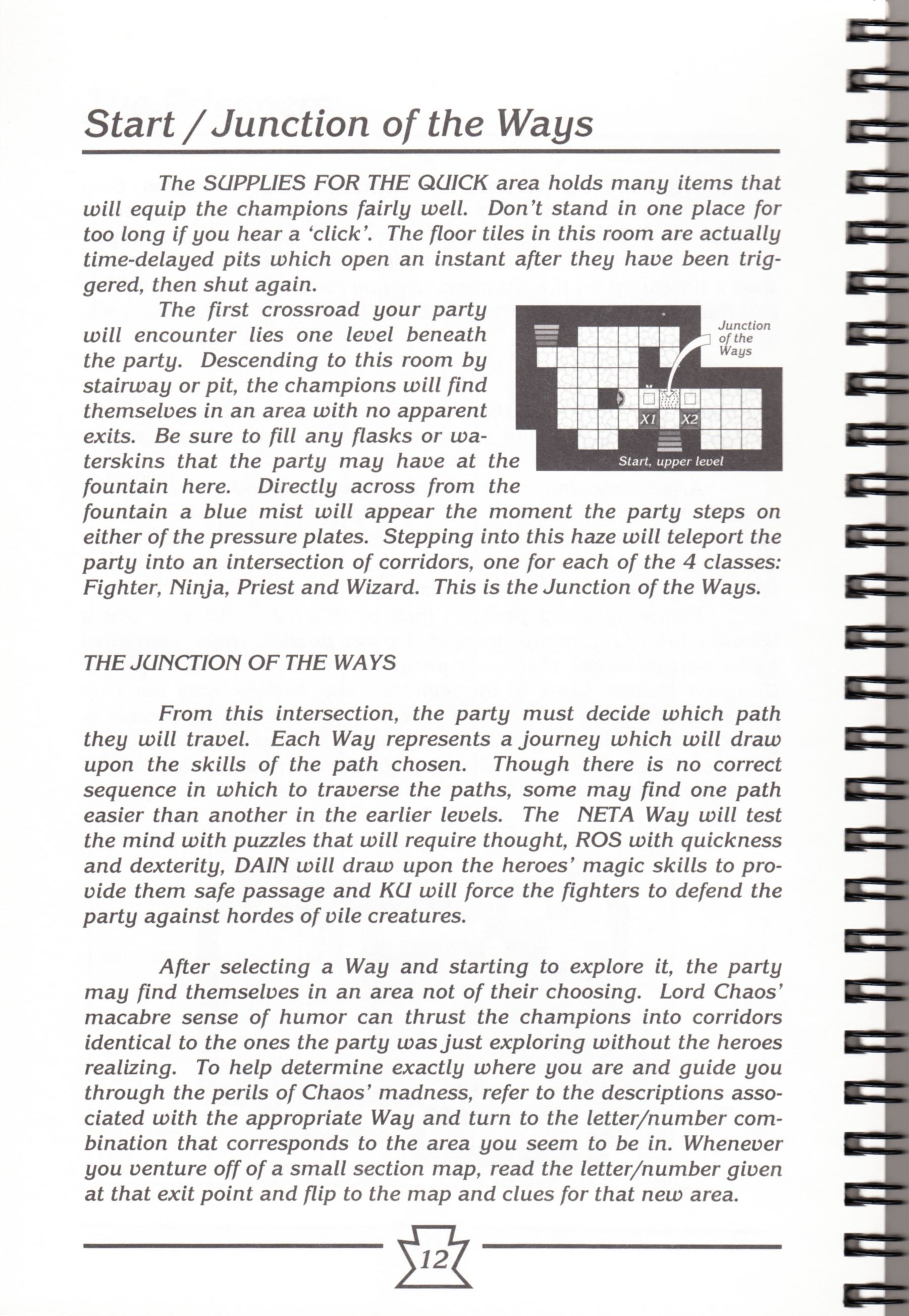 Hint Book - Chaos Strikes Back Adventurer's Handbook - US - Page 018 - Scan