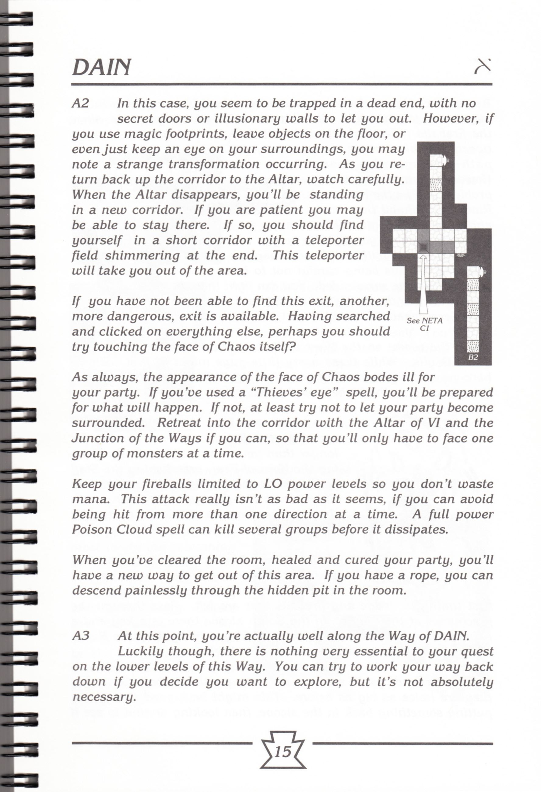 Hint Book - Chaos Strikes Back Adventurer's Handbook - US - Page 021 - Scan