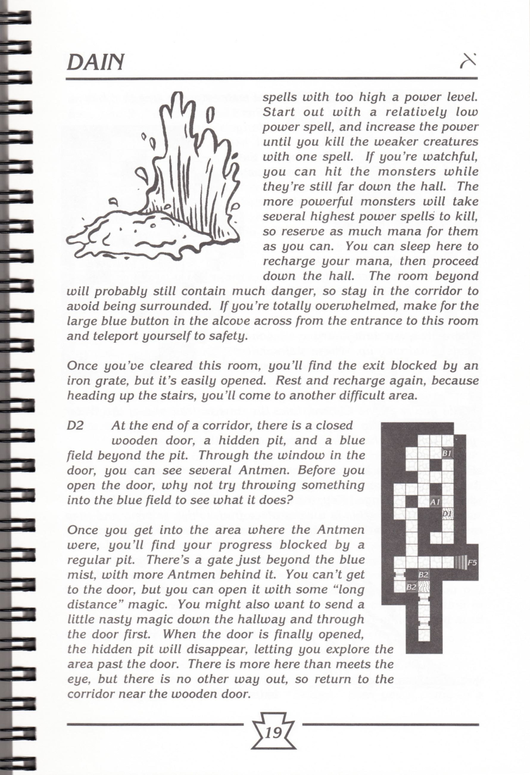 Hint Book - Chaos Strikes Back Adventurer's Handbook - US - Page 025 - Scan