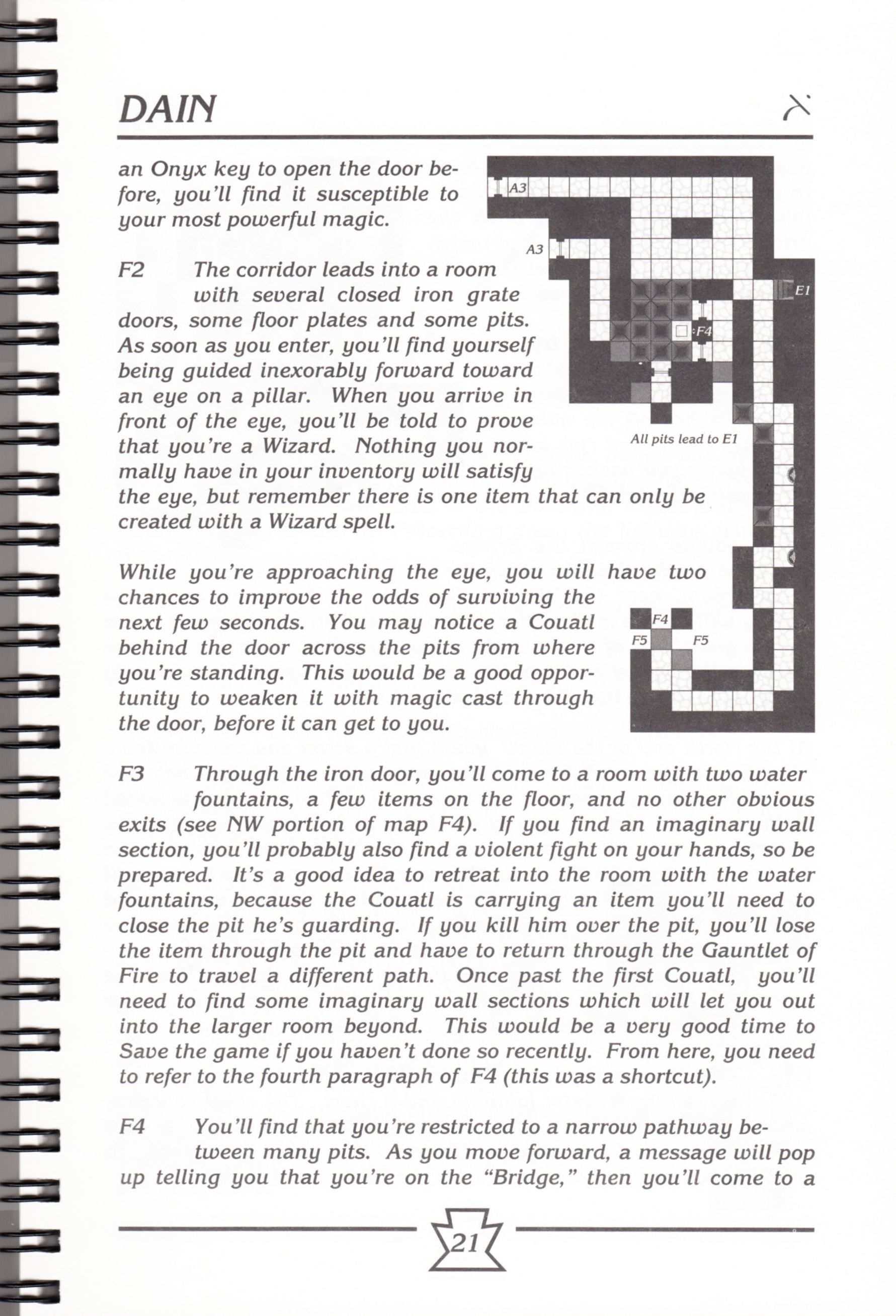 Hint Book - Chaos Strikes Back Adventurer's Handbook - US - Page 027 - Scan