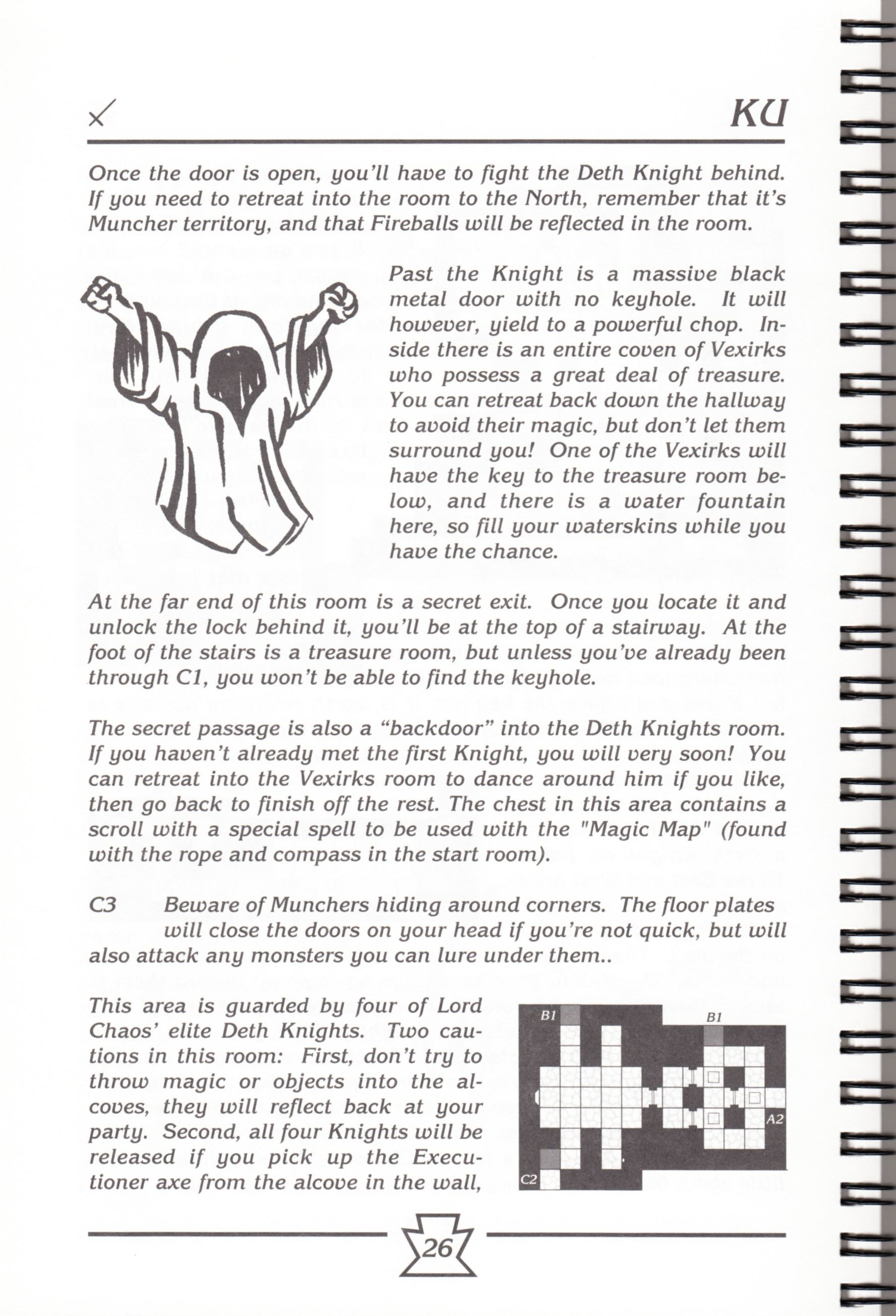 Hint Book - Chaos Strikes Back Adventurer's Handbook - US - Page 032 - Scan