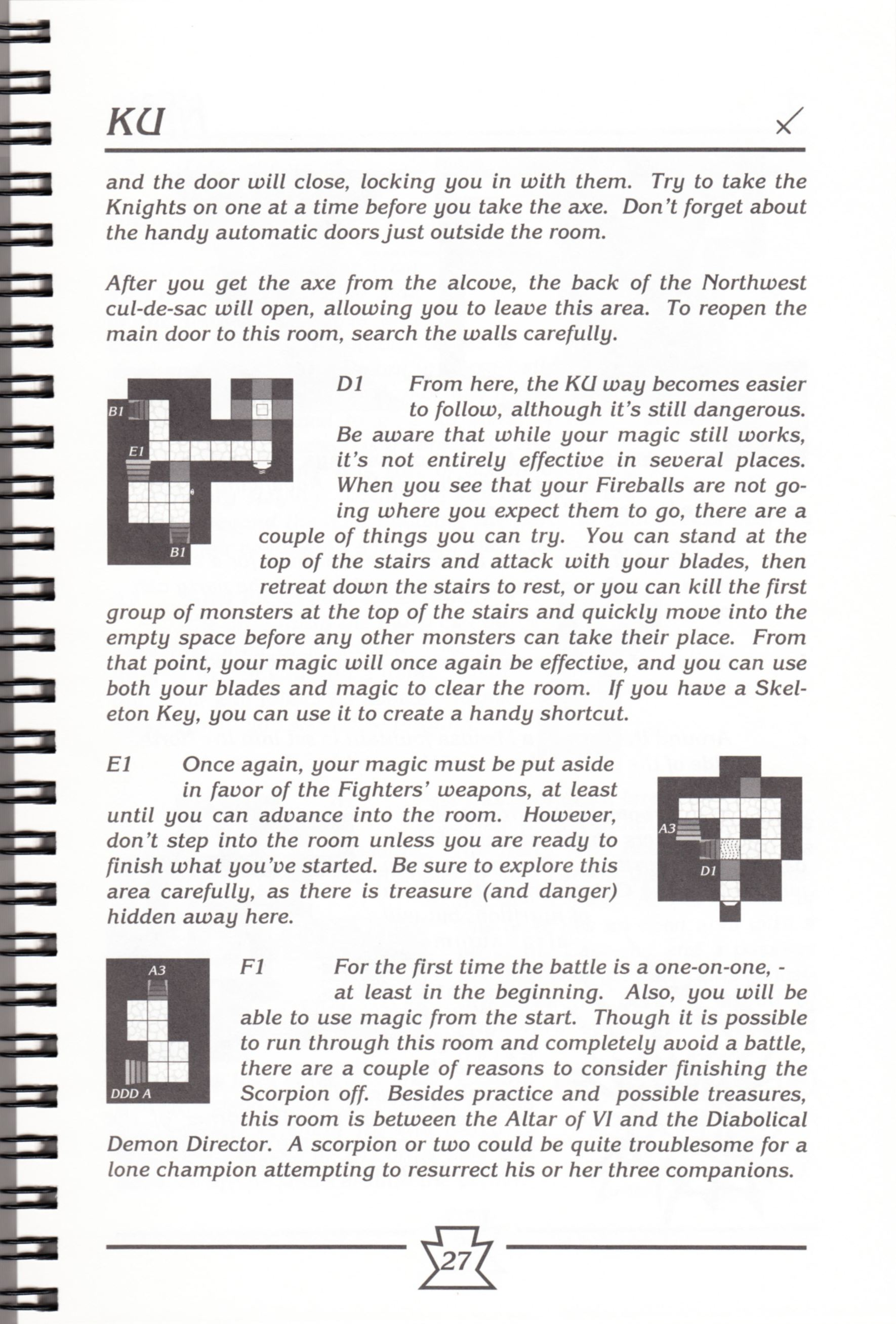 Hint Book - Chaos Strikes Back Adventurer's Handbook - US - Page 033 - Scan