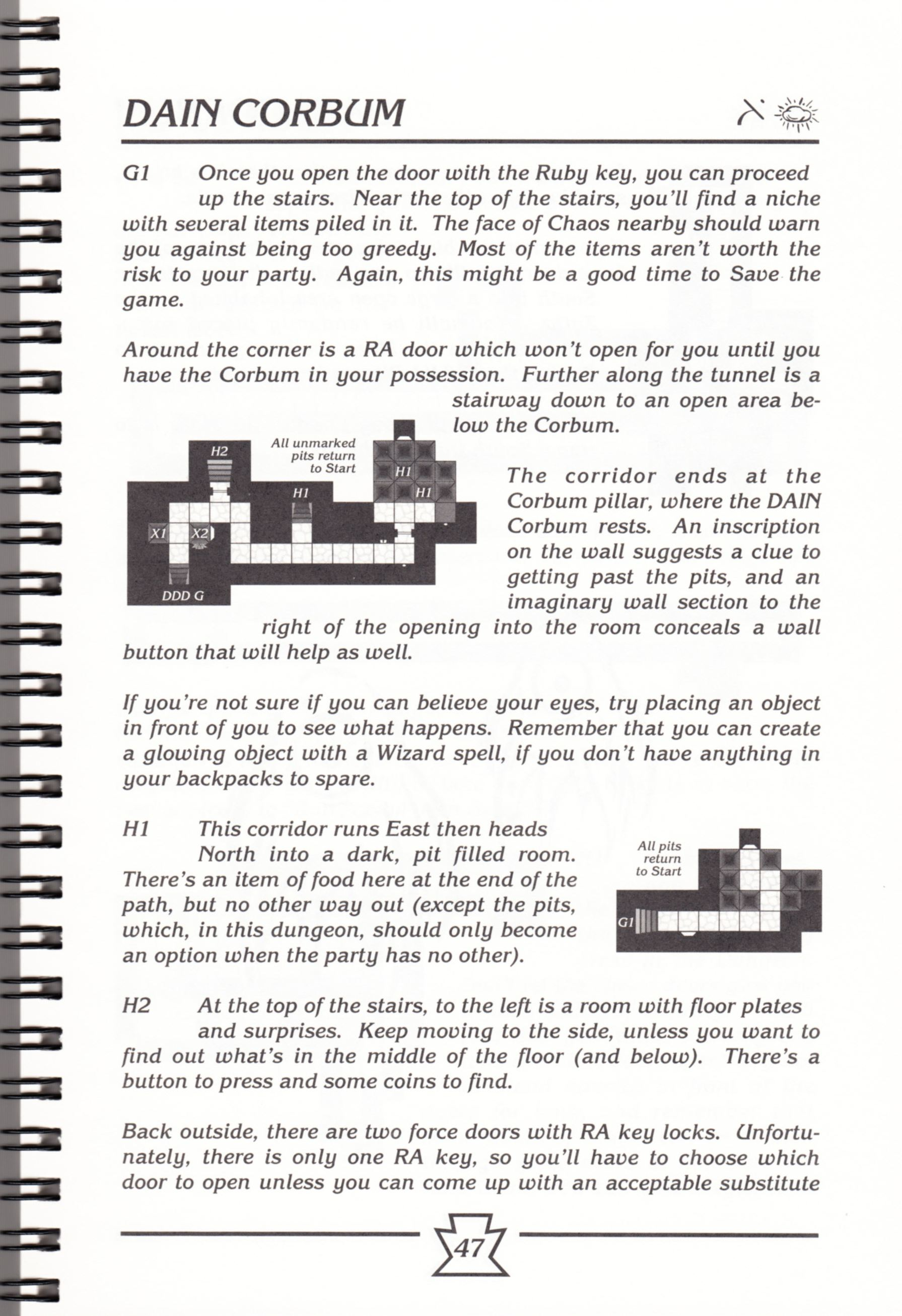 Hint Book - Chaos Strikes Back Adventurer's Handbook - US - Page 053 - Scan