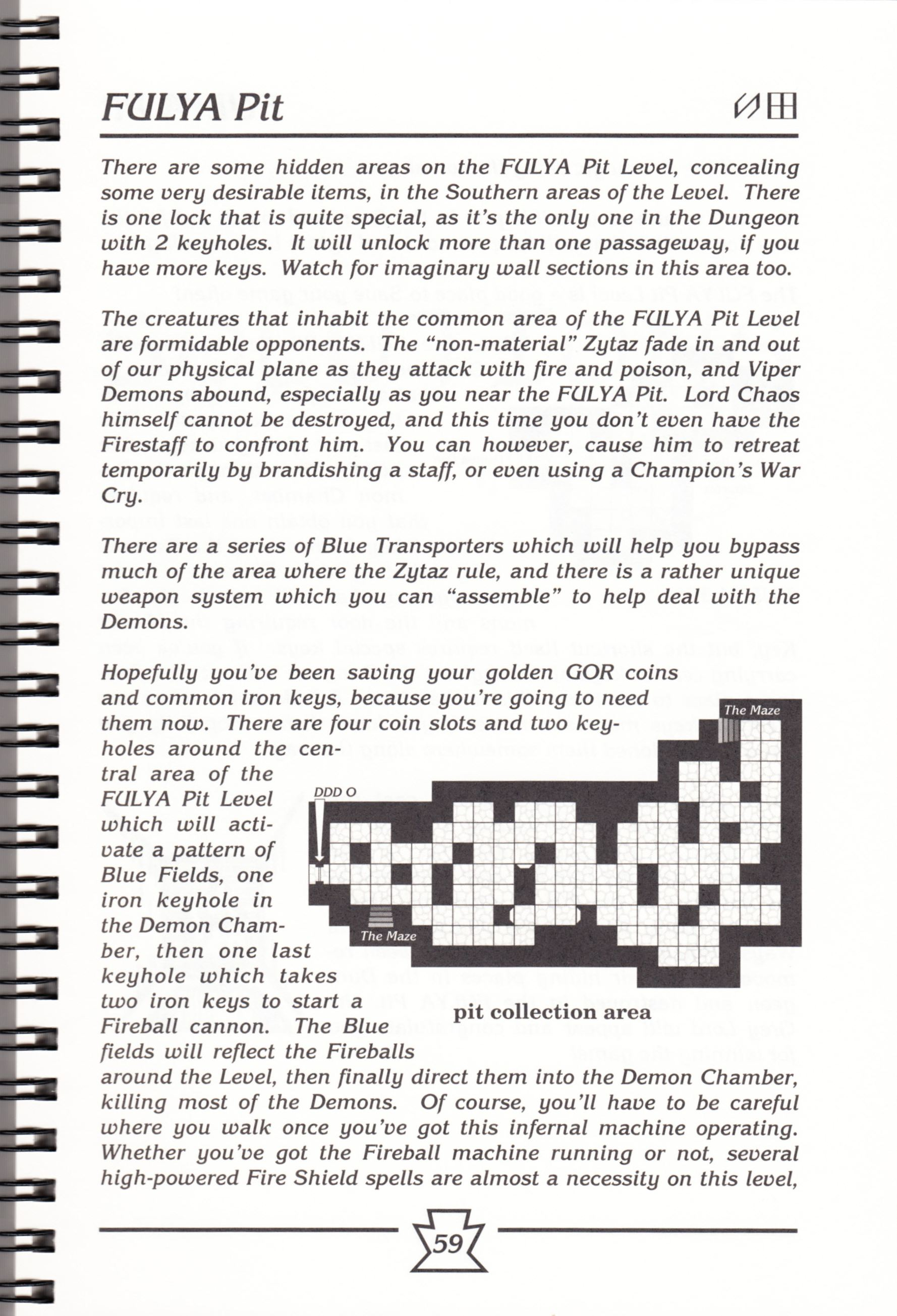 Hint Book - Chaos Strikes Back Adventurer's Handbook - US - Page 065 - Scan