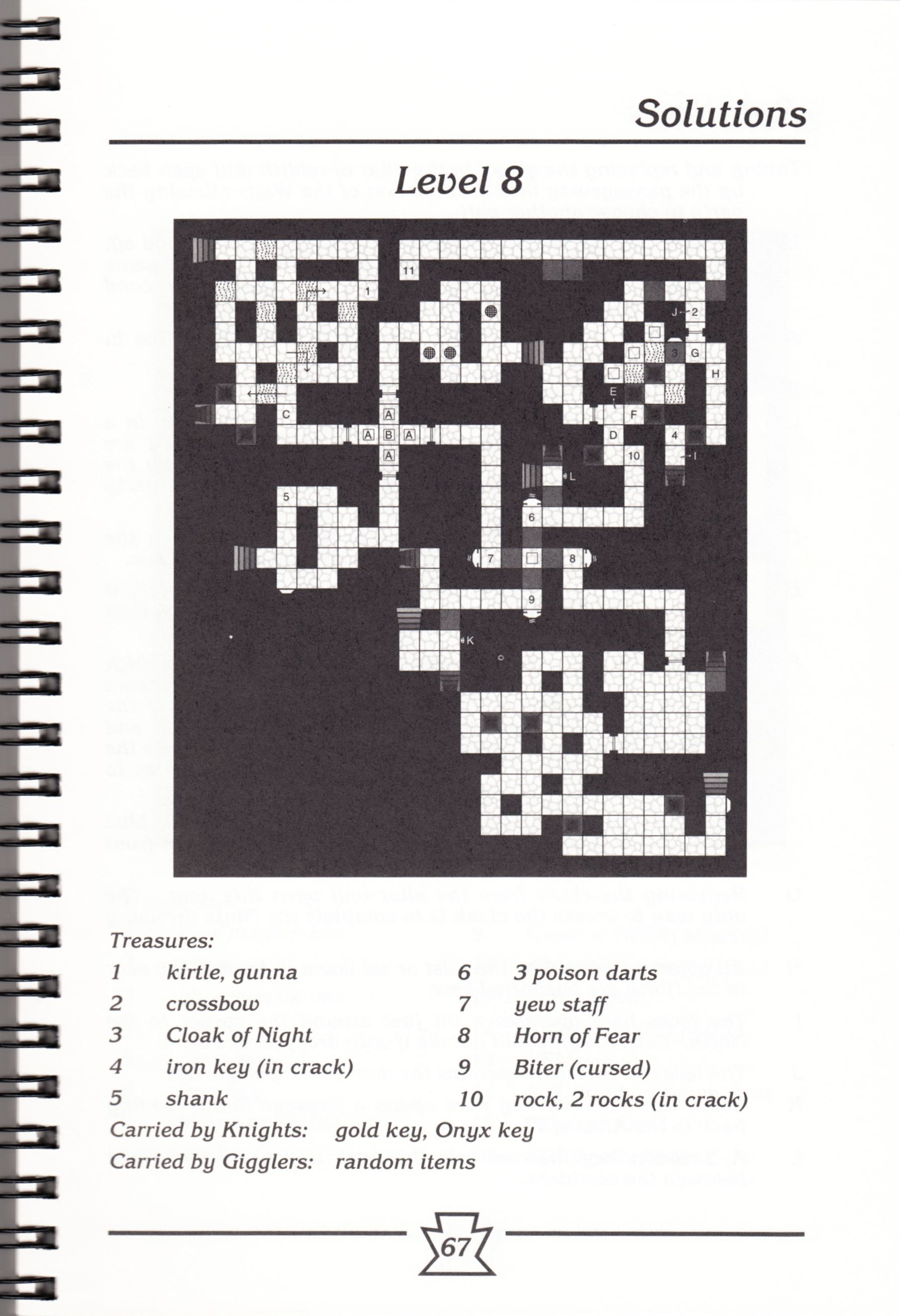 Hint Book - Chaos Strikes Back Adventurer's Handbook - US - Page 073 - Scan