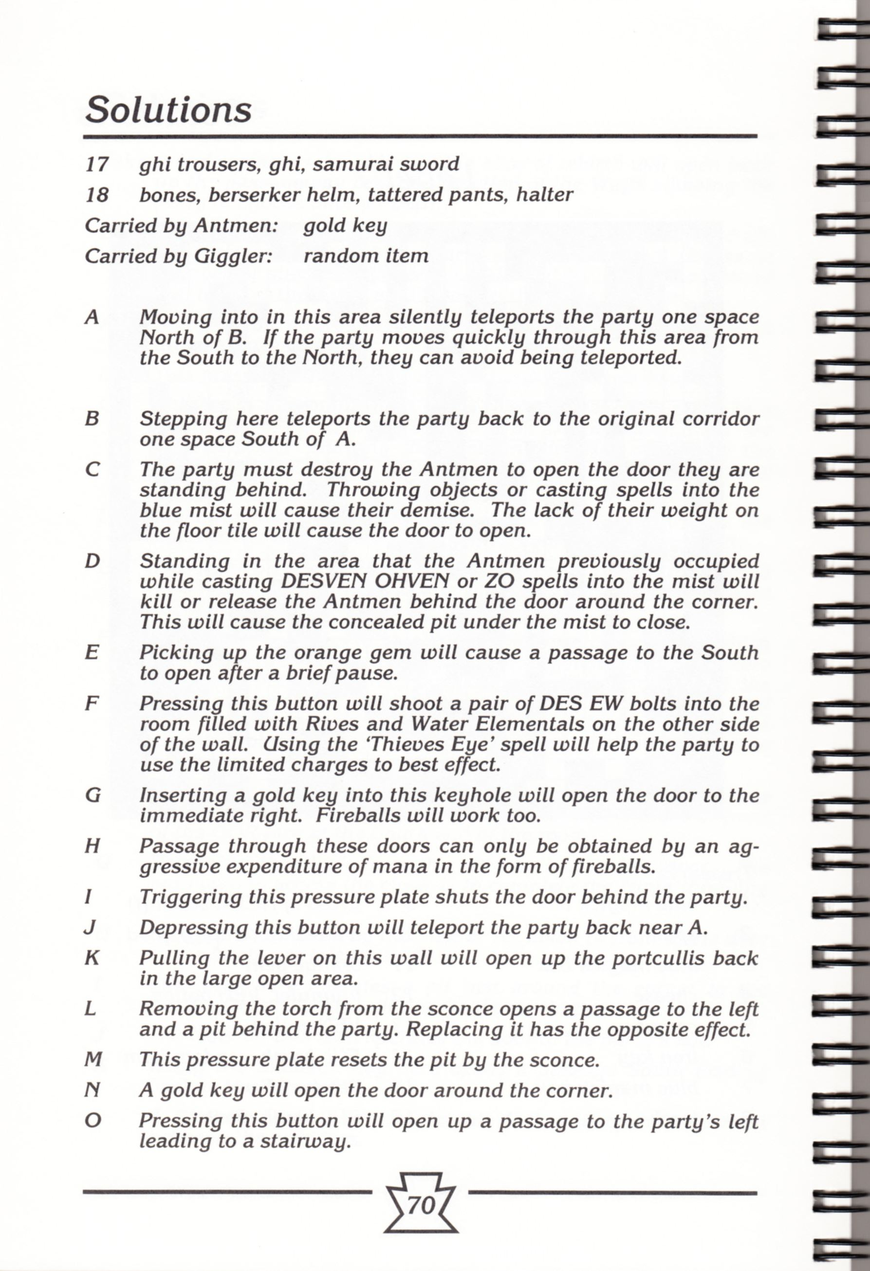Hint Book - Chaos Strikes Back Adventurer's Handbook - US - Page 076 - Scan