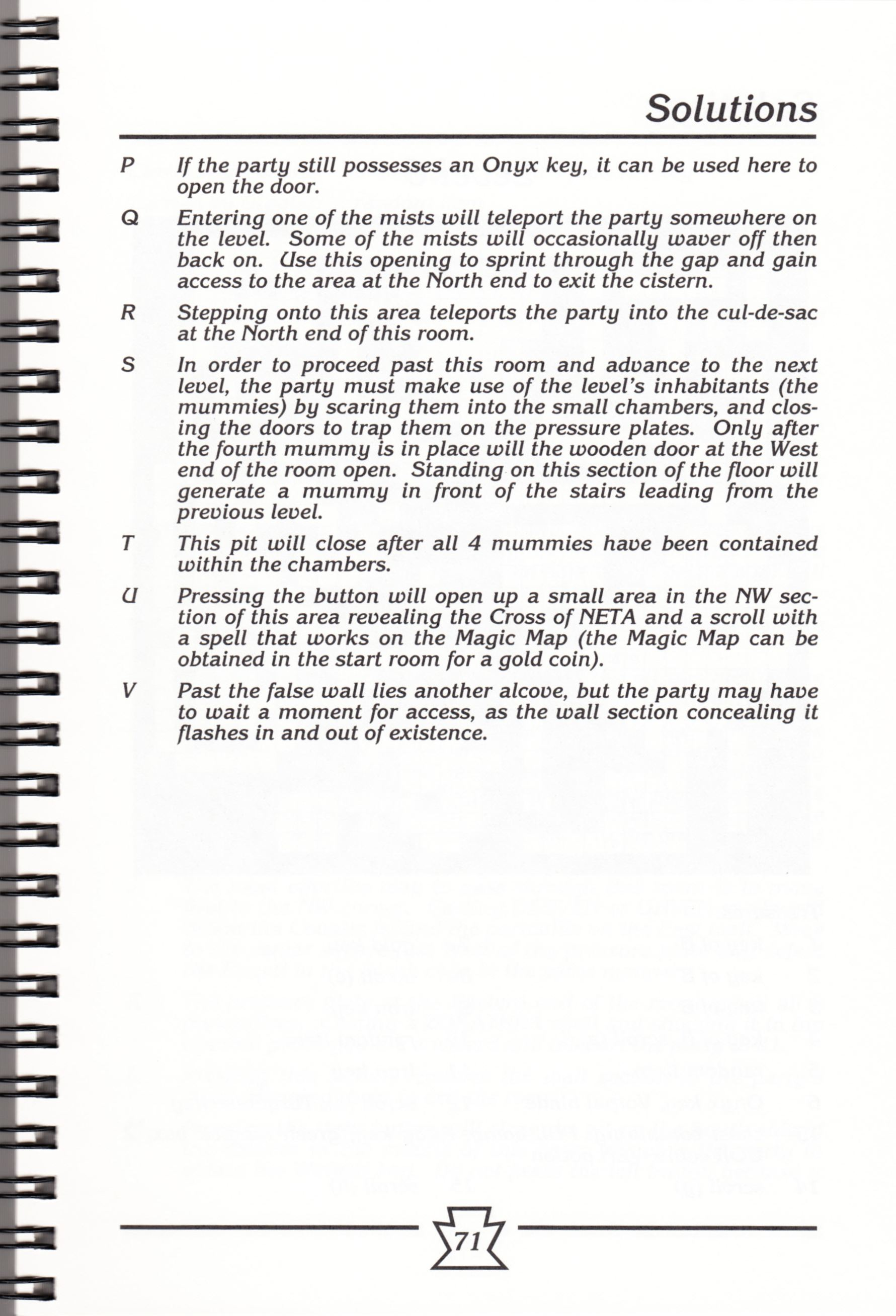 Hint Book - Chaos Strikes Back Adventurer's Handbook - US - Page 077 - Scan