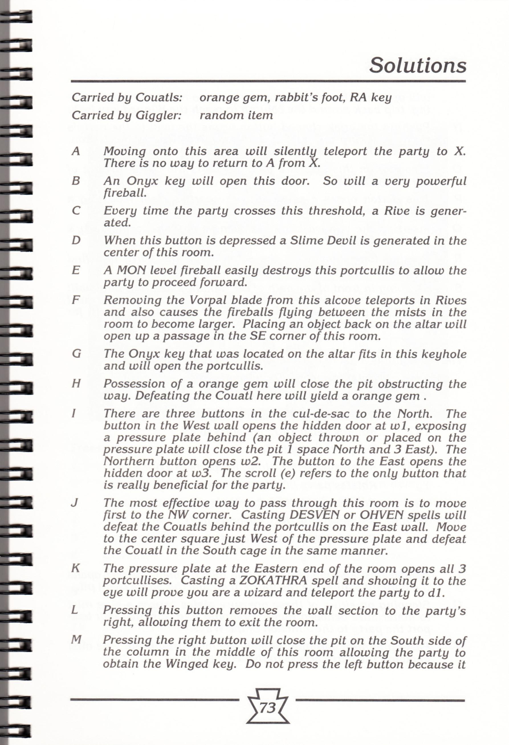 Hint Book - Chaos Strikes Back Adventurer's Handbook - US - Page 079 - Scan