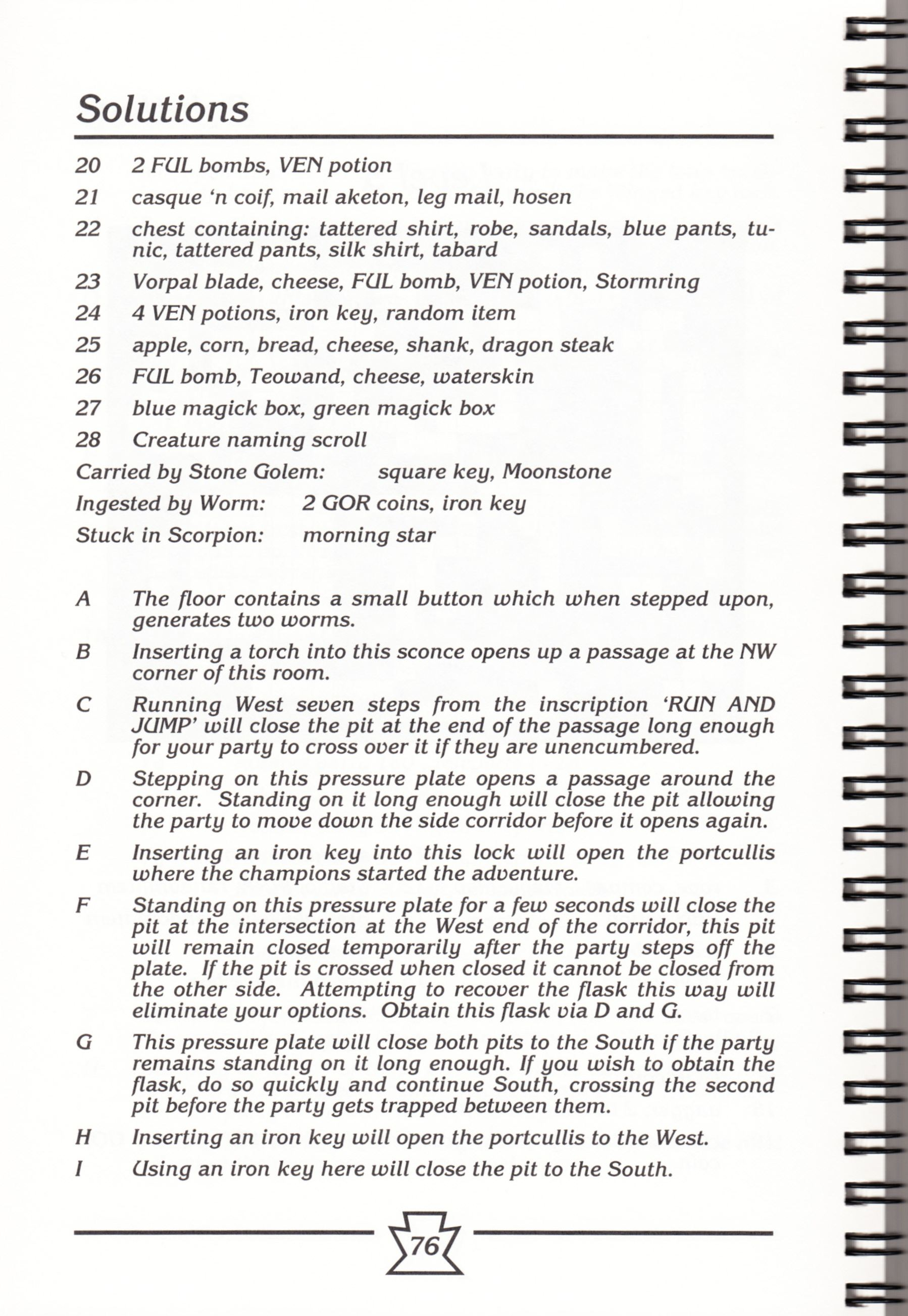 Hint Book - Chaos Strikes Back Adventurer's Handbook - US - Page 082 - Scan
