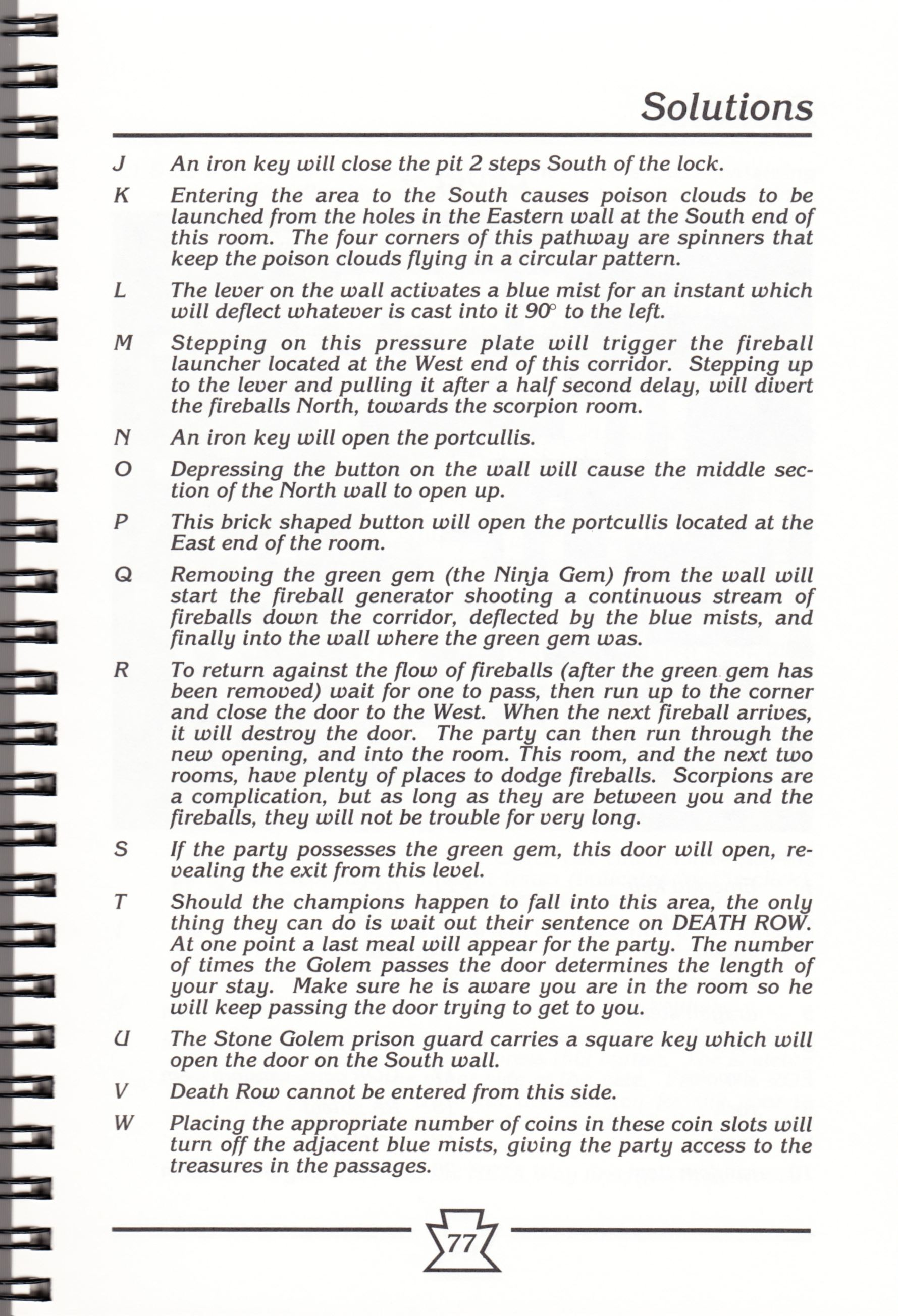 Hint Book - Chaos Strikes Back Adventurer's Handbook - US - Page 083 - Scan