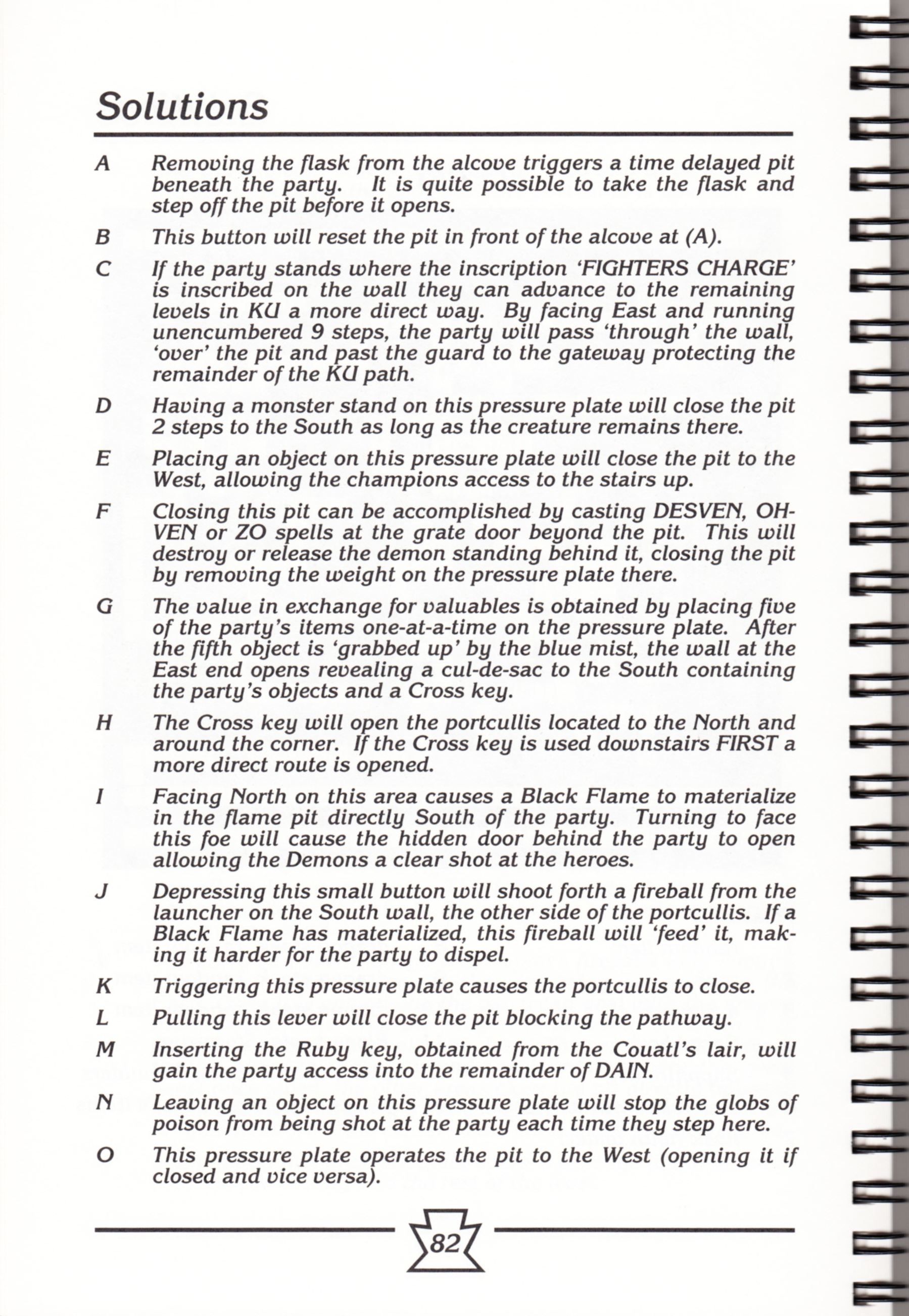 Hint Book - Chaos Strikes Back Adventurer's Handbook - US - Page 088 - Scan