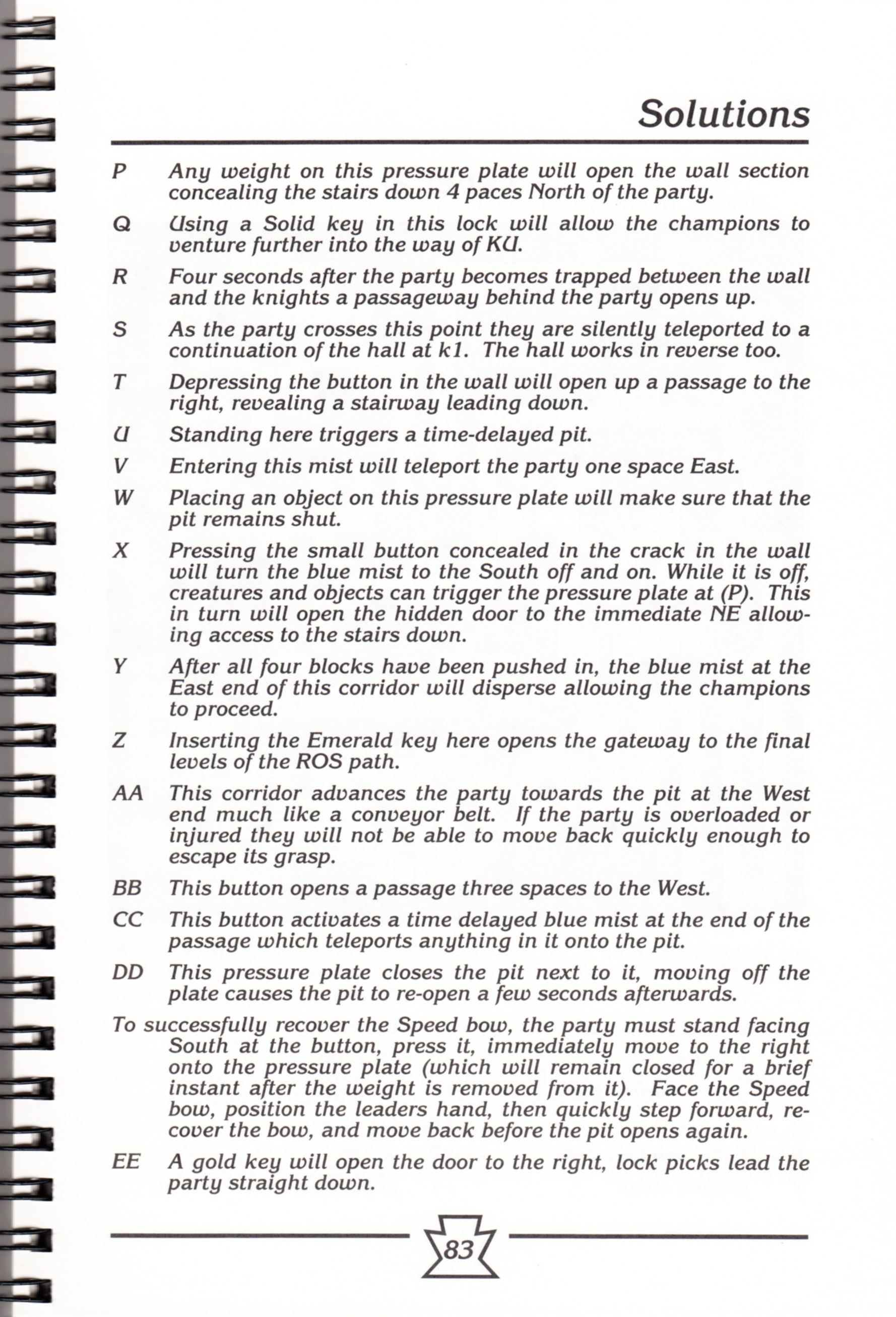 Hint Book - Chaos Strikes Back Adventurer's Handbook - US - Page 089 - Scan