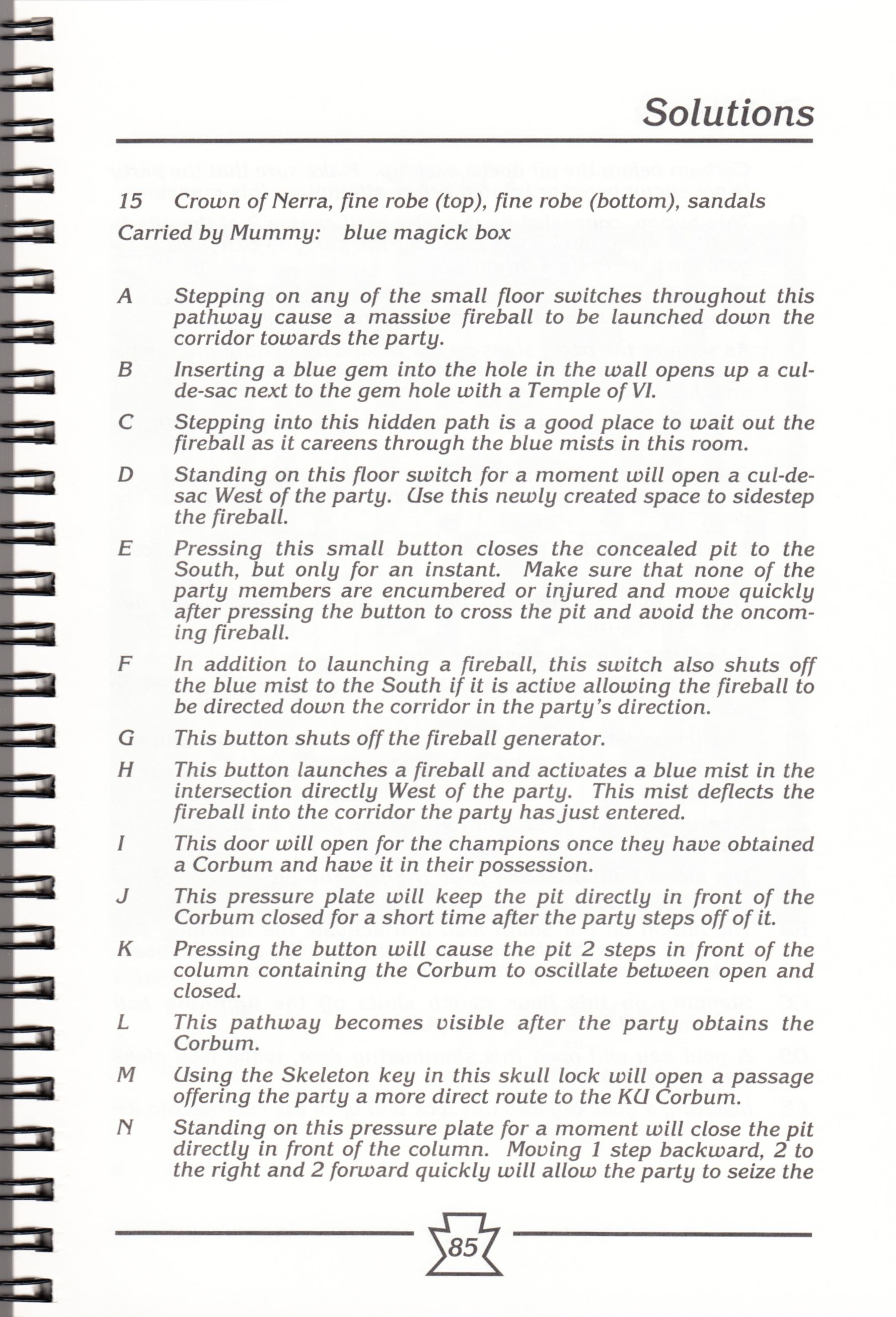Hint Book - Chaos Strikes Back Adventurer's Handbook - US - Page 091 - Scan