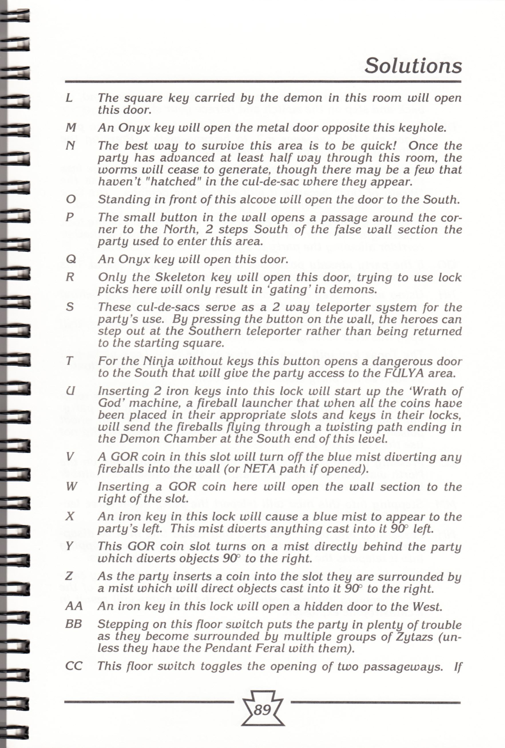 Hint Book - Chaos Strikes Back Adventurer's Handbook - US - Page 095 - Scan