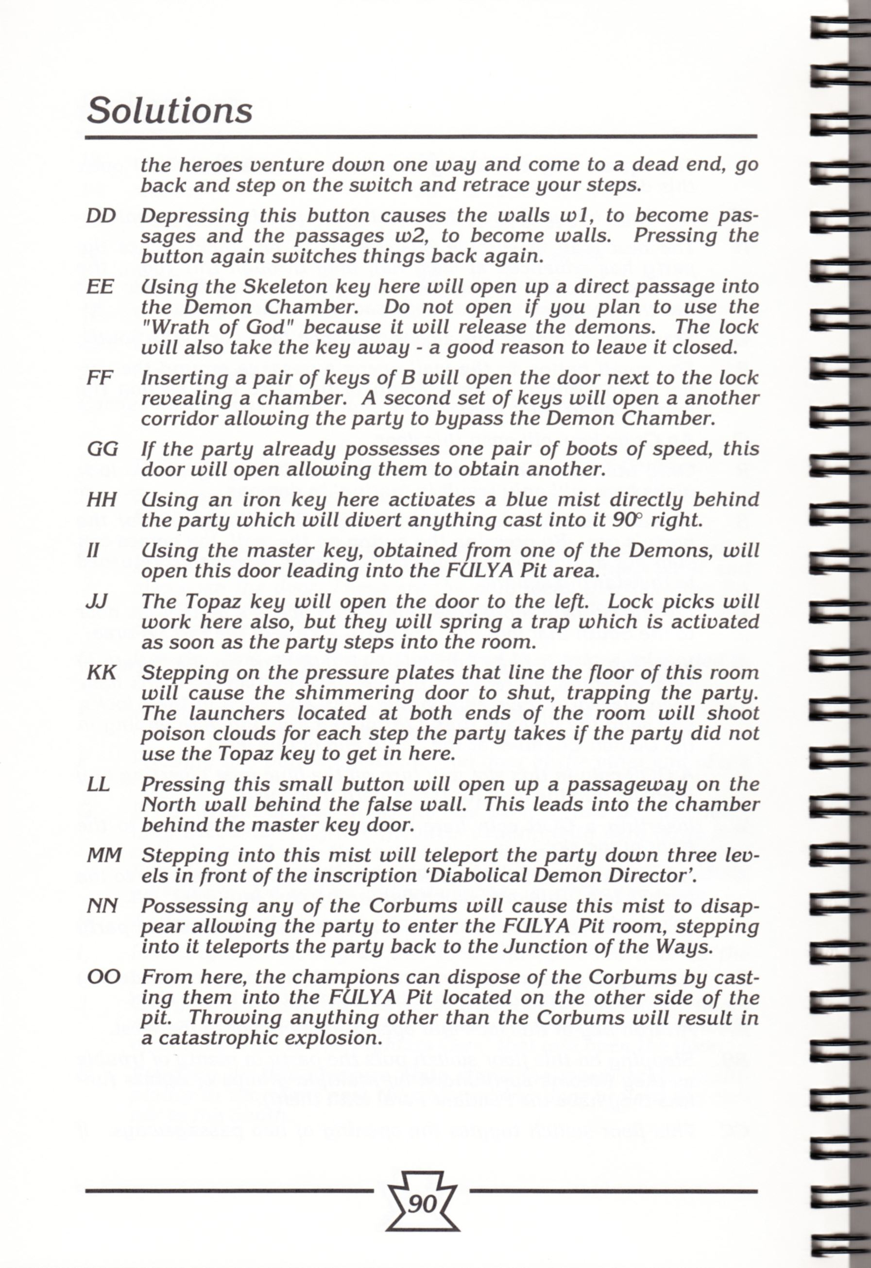 Hint Book - Chaos Strikes Back Adventurer's Handbook - US - Page 096 - Scan