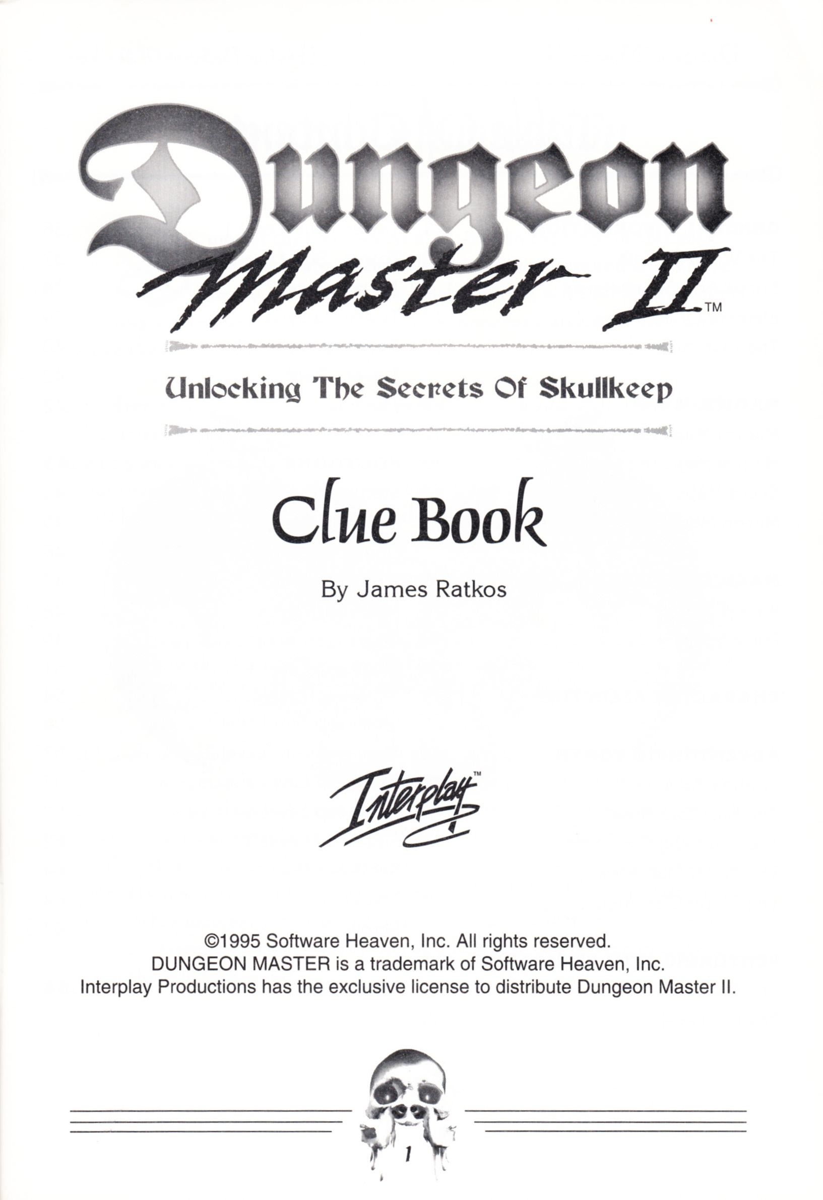 Hint Book - Dungeon Master II Clue Book - US - Page 003 - Scan