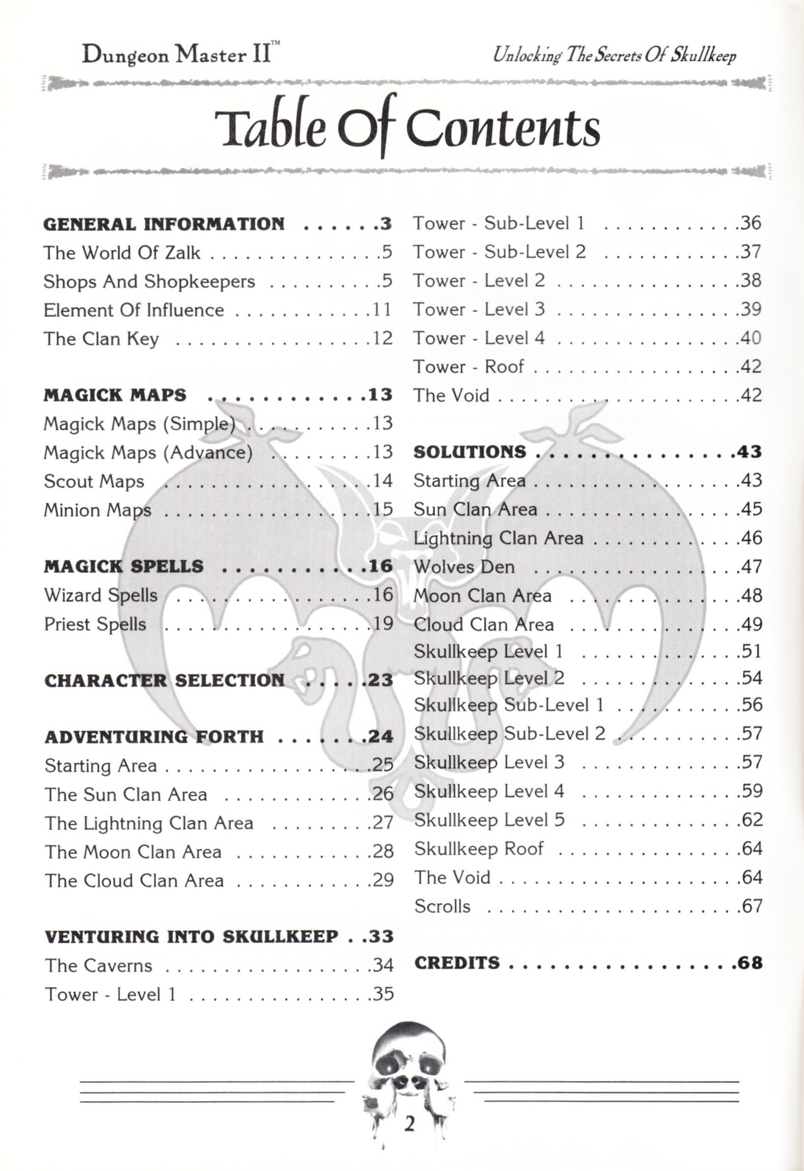Hint Book - Dungeon Master II Clue Book - US - Page 004 - Scan