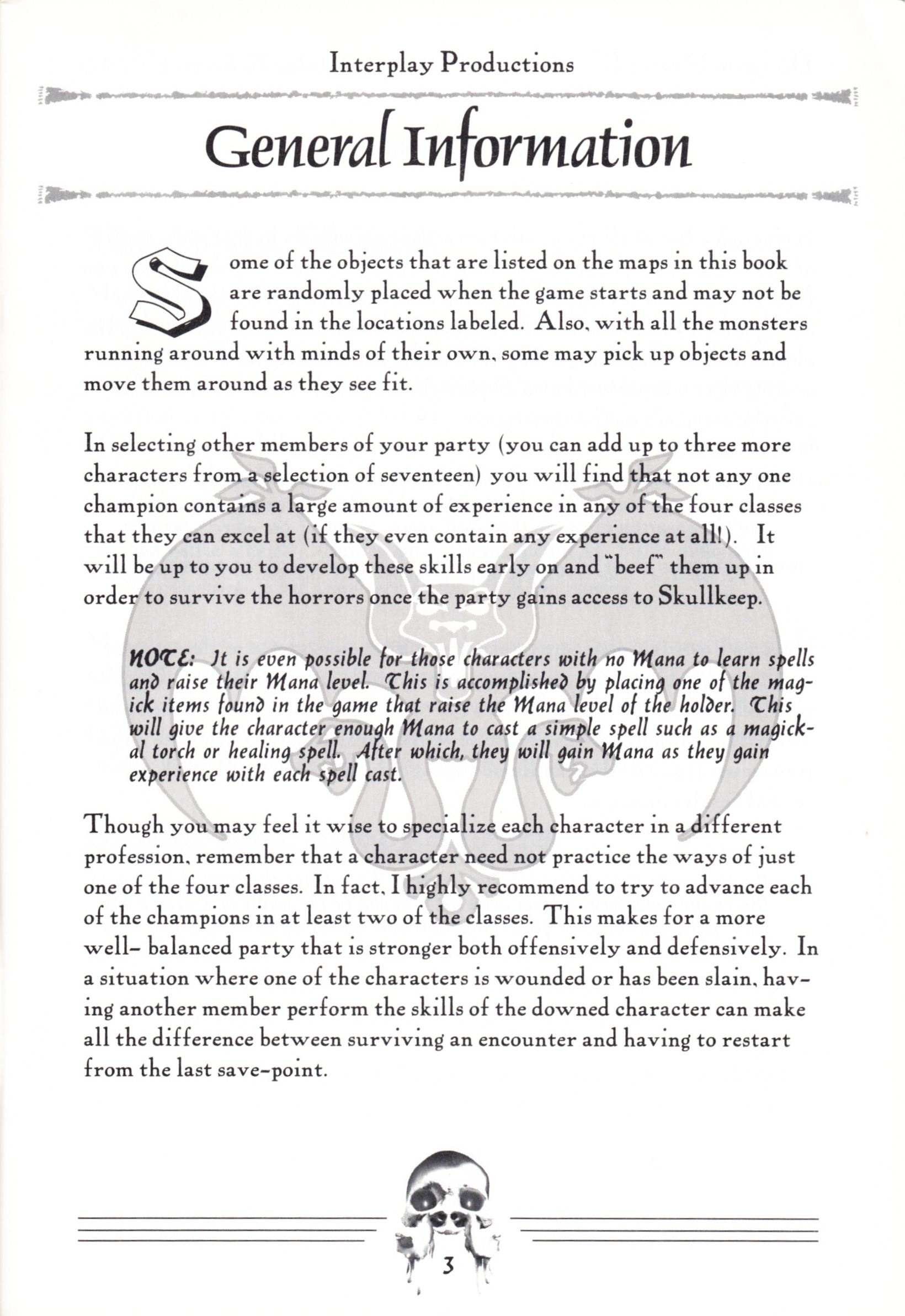 Hint Book - Dungeon Master II Clue Book - US - Page 005 - Scan