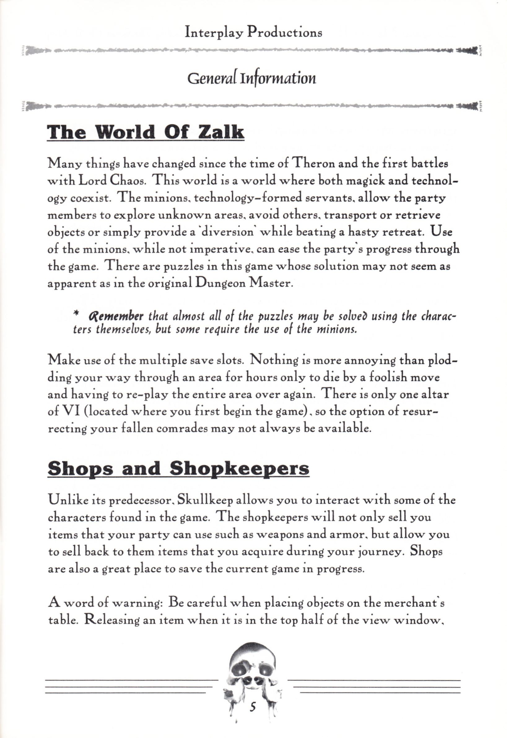 Hint Book - Dungeon Master II Clue Book - US - Page 007 - Scan