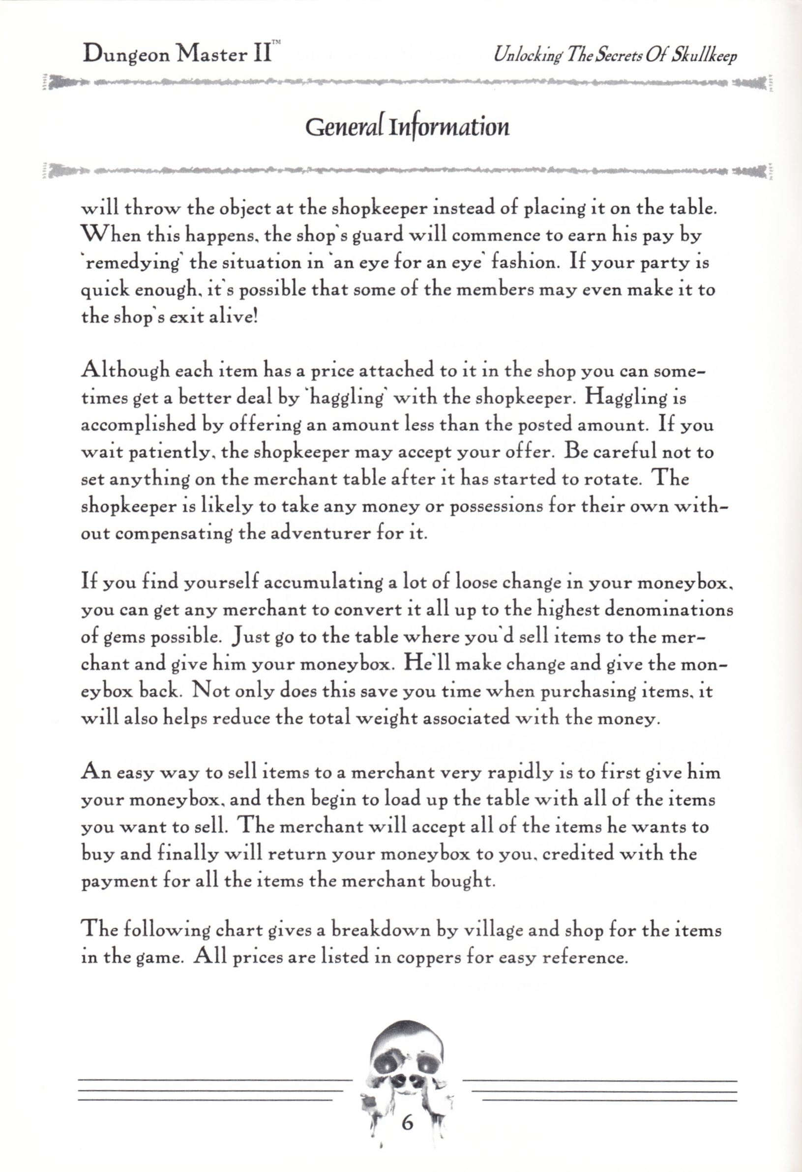 Hint Book - Dungeon Master II Clue Book - US - Page 008 - Scan