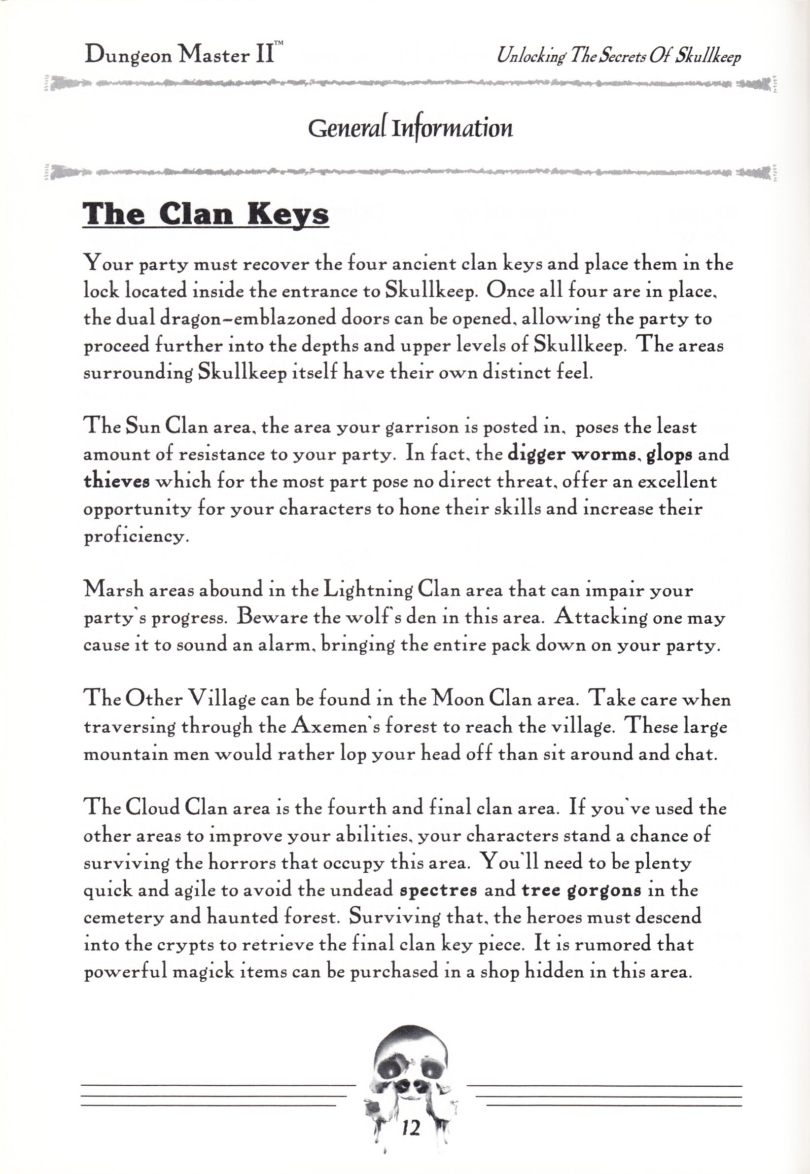 Hint Book - Dungeon Master II Clue Book - US - Page 014 - Scan