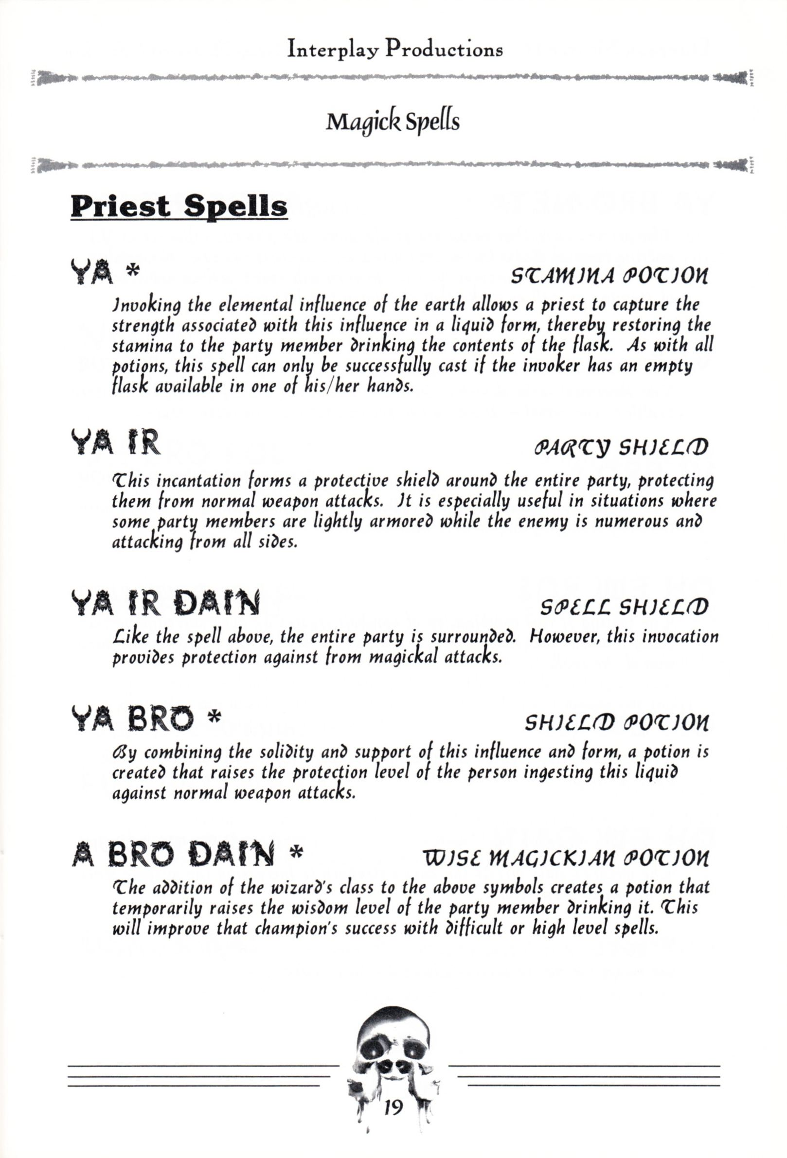 Hint Book - Dungeon Master II Clue Book - US - Page 021 - Scan
