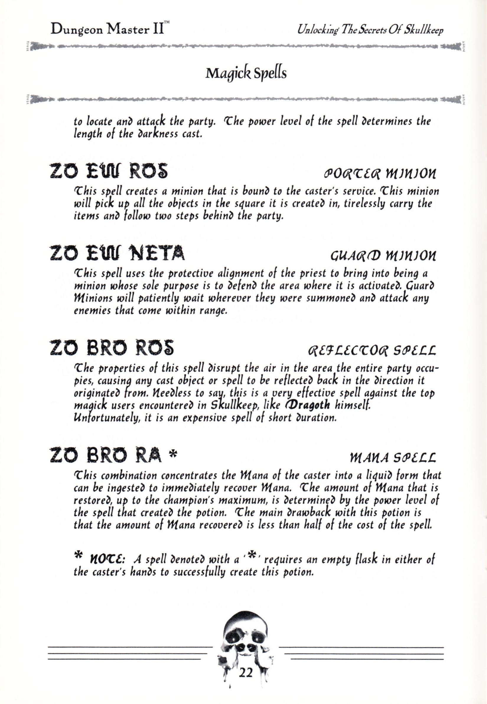 Hint Book - Dungeon Master II Clue Book - US - Page 024 - Scan