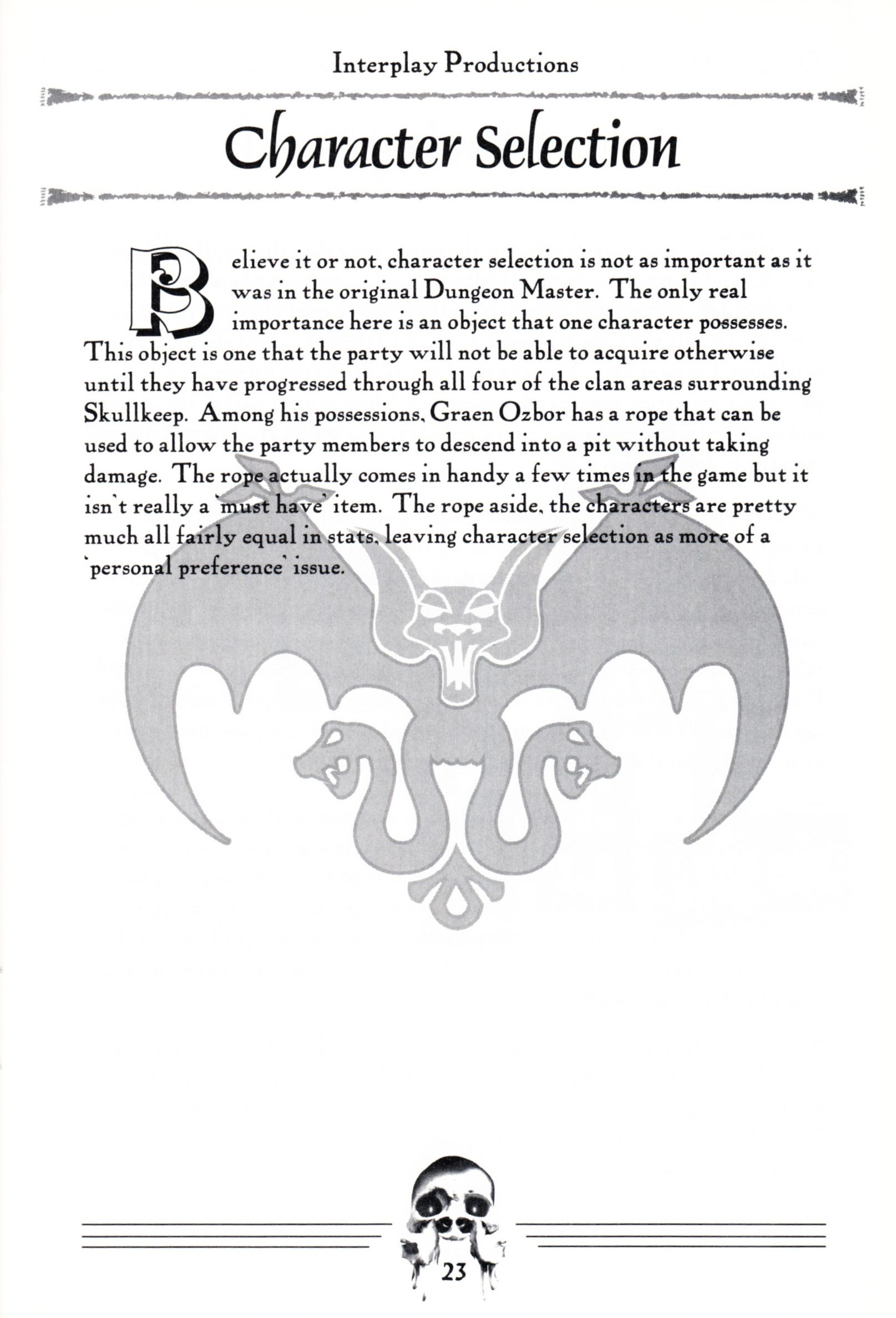 Hint Book - Dungeon Master II Clue Book - US - Page 025 - Scan