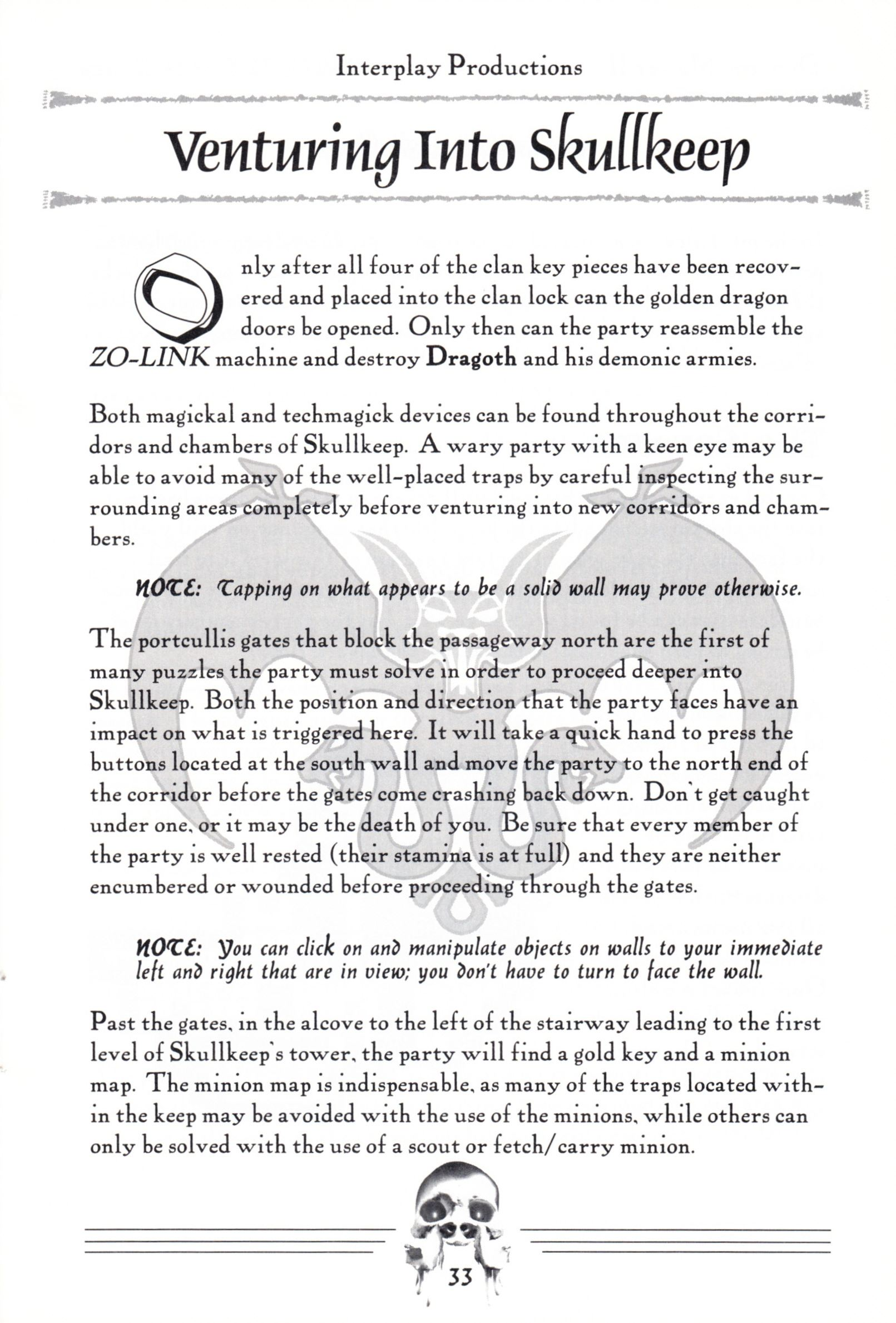 Hint Book - Dungeon Master II Clue Book - US - Page 035 - Scan