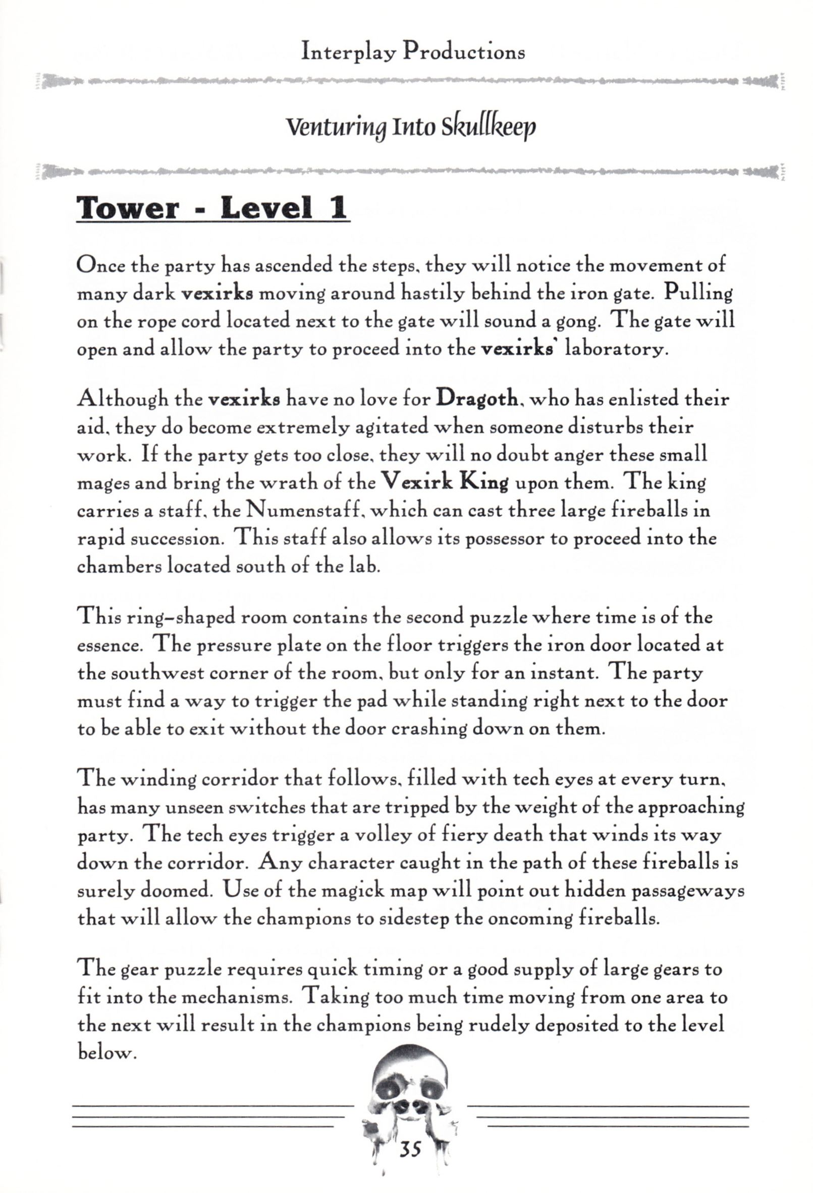 Hint Book - Dungeon Master II Clue Book - US - Page 037 - Scan
