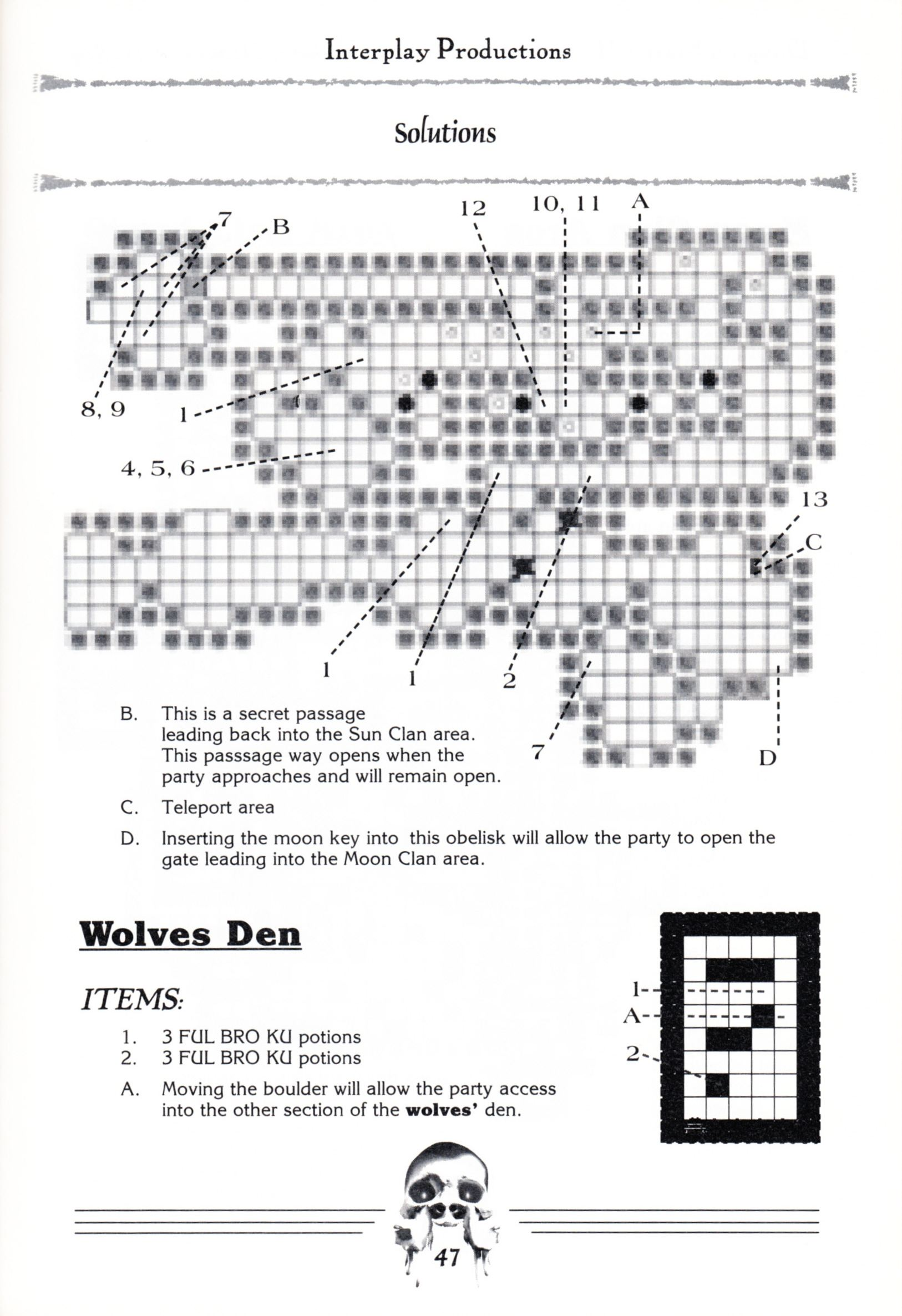 Hint Book - Dungeon Master II Clue Book - US - Page 049 - Scan