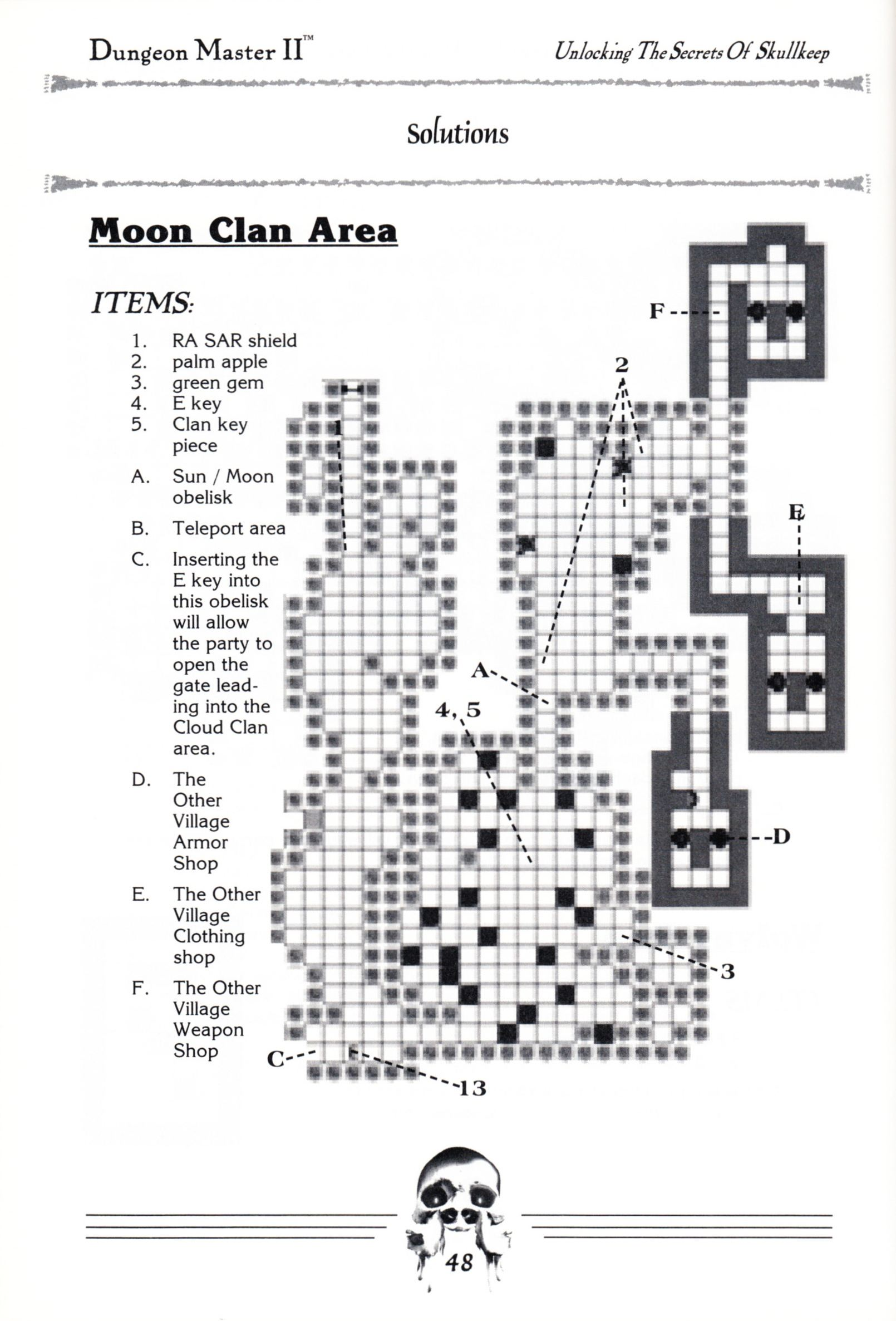 Hint Book - Dungeon Master II Clue Book - US - Page 050 - Scan
