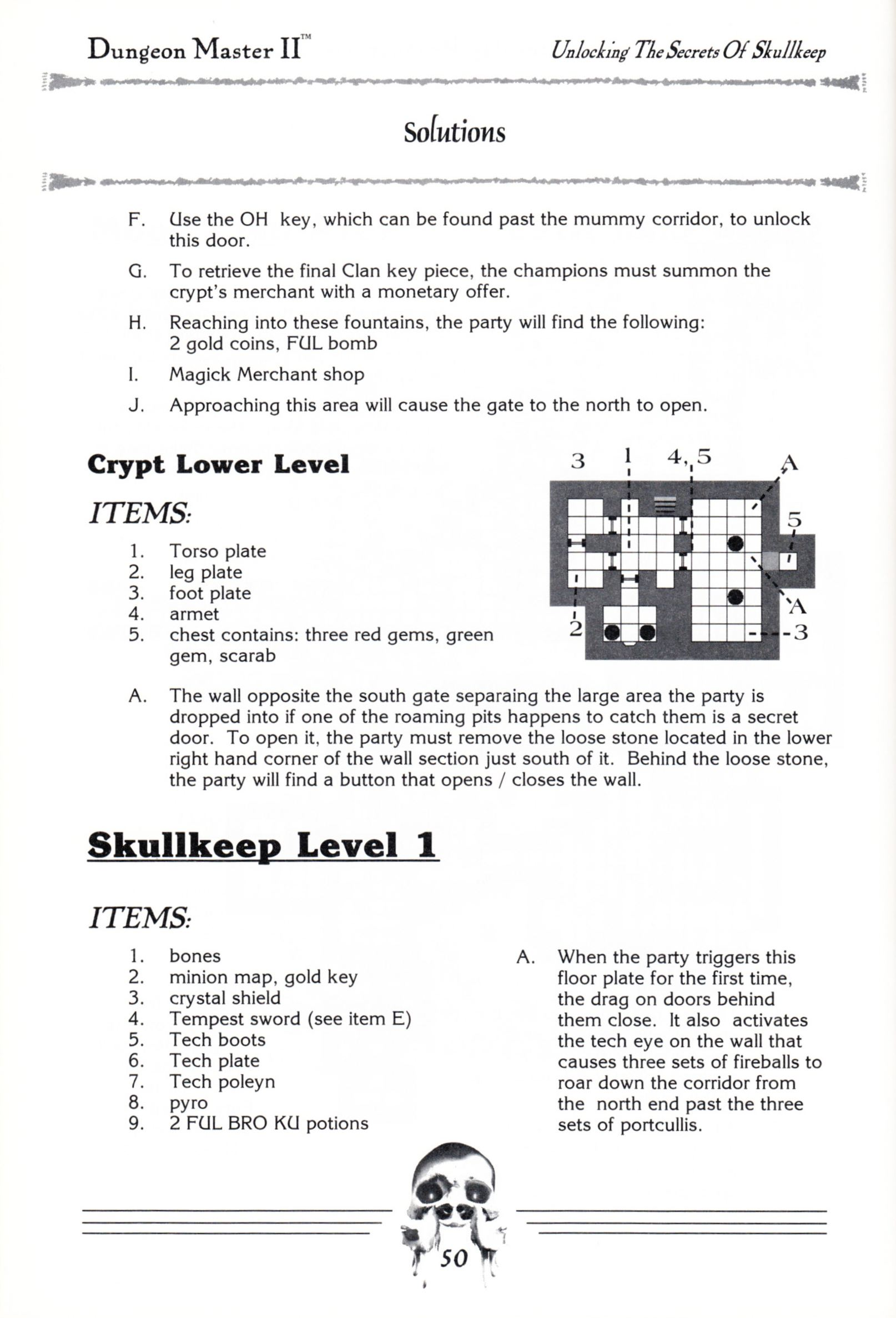 Hint Book - Dungeon Master II Clue Book - US - Page 052 - Scan