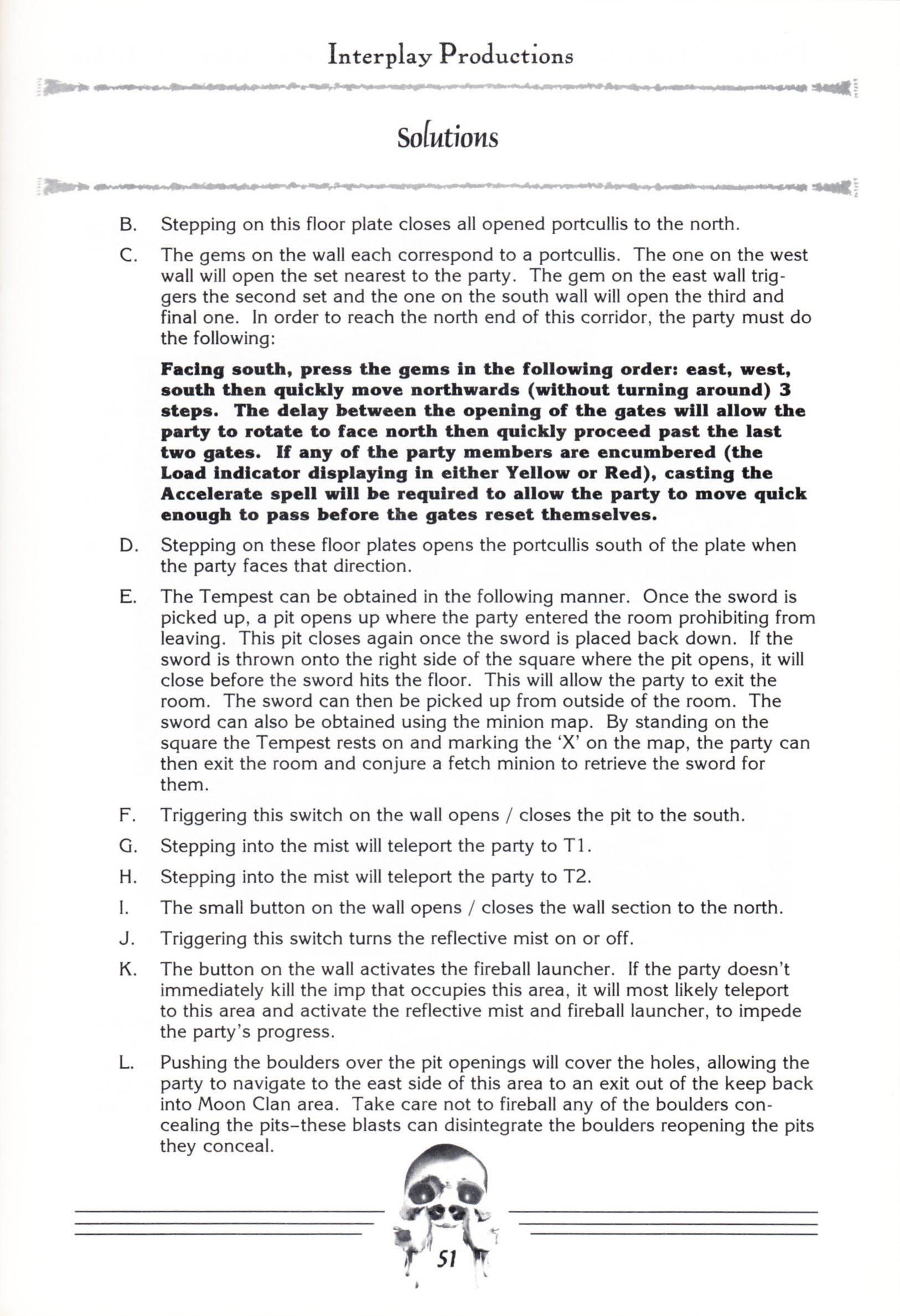 Hint Book - Dungeon Master II Clue Book - US - Page 053 - Scan