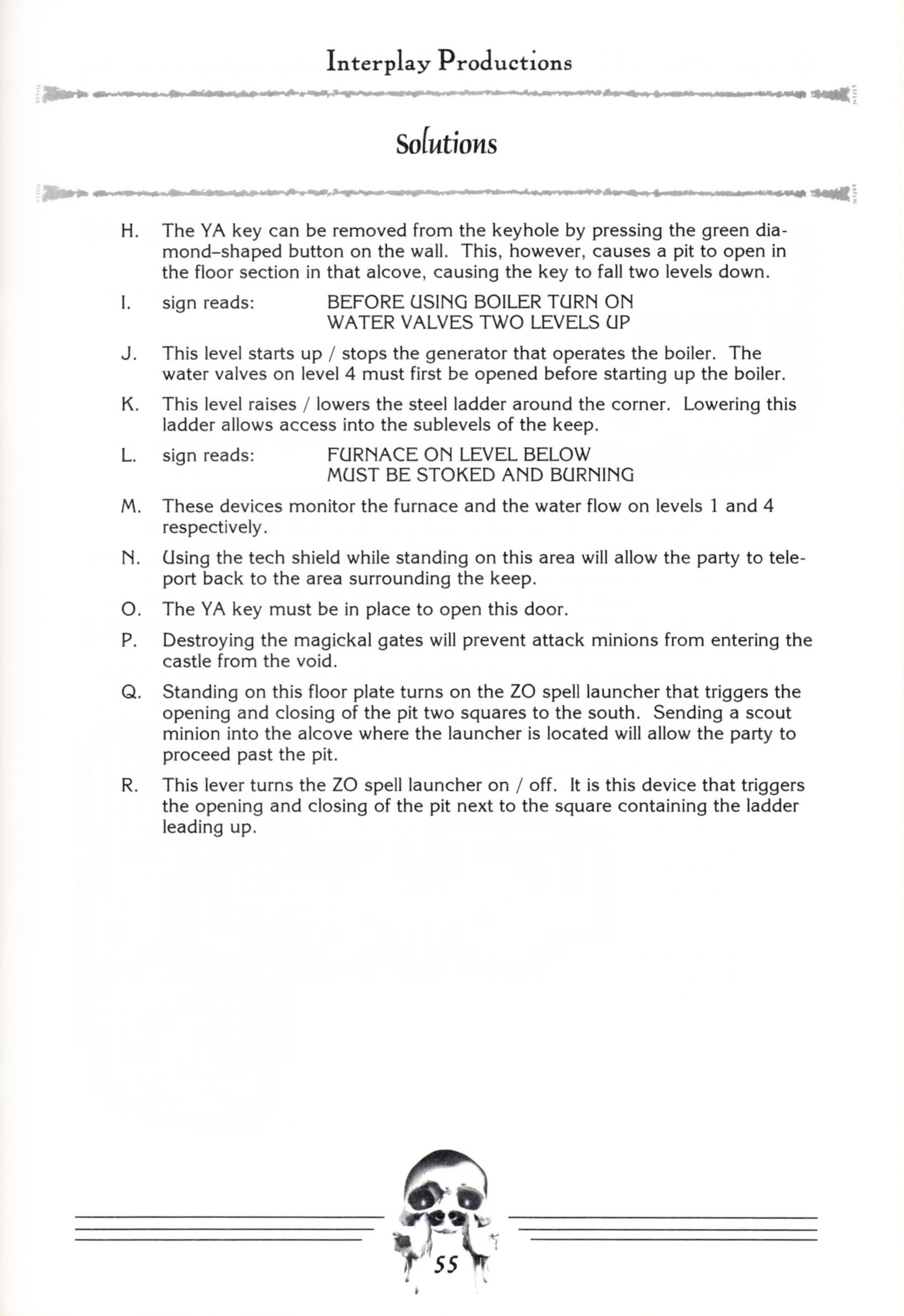 Hint Book - Dungeon Master II Clue Book - US - Page 057 - Scan