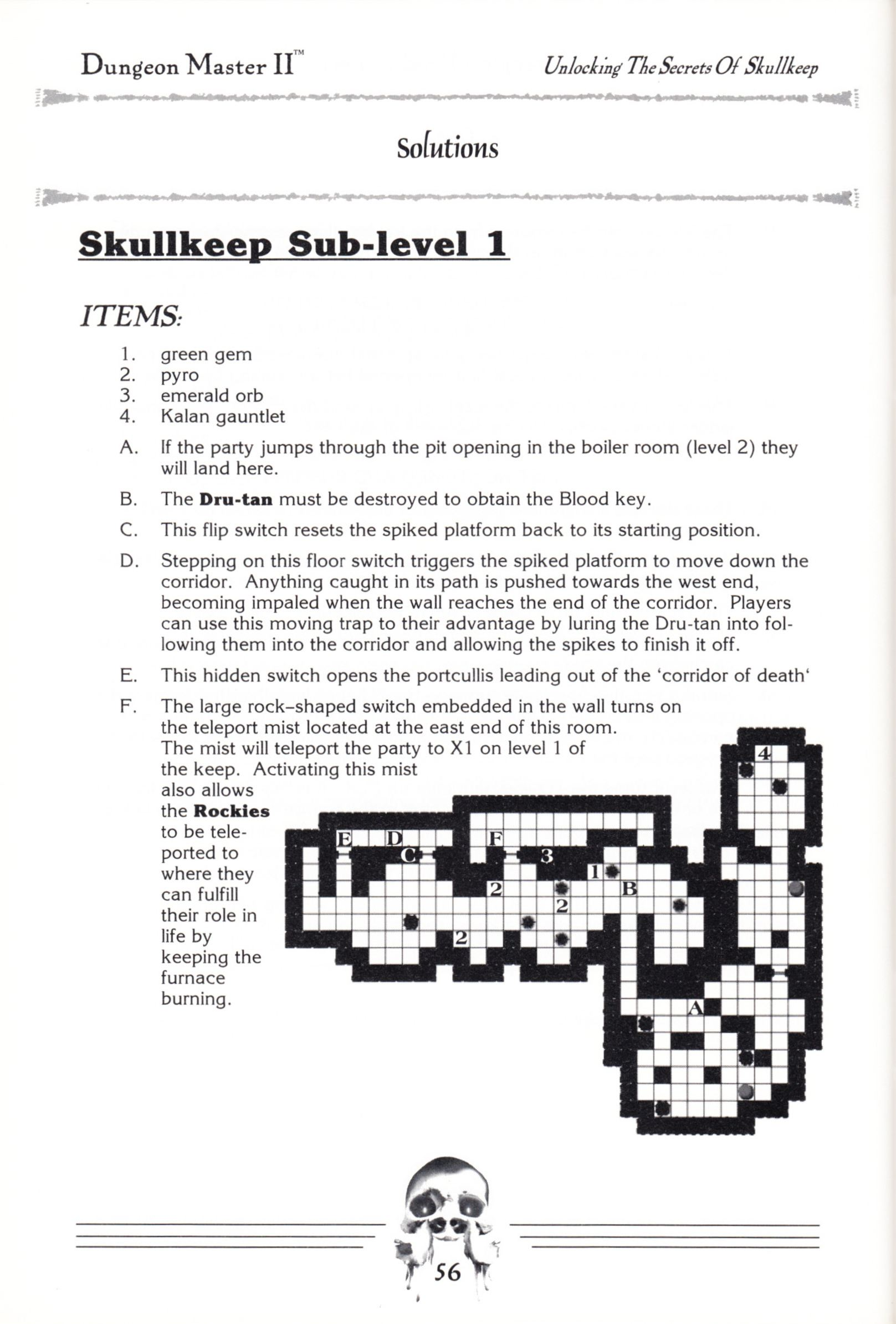 Hint Book - Dungeon Master II Clue Book - US - Page 058 - Scan
