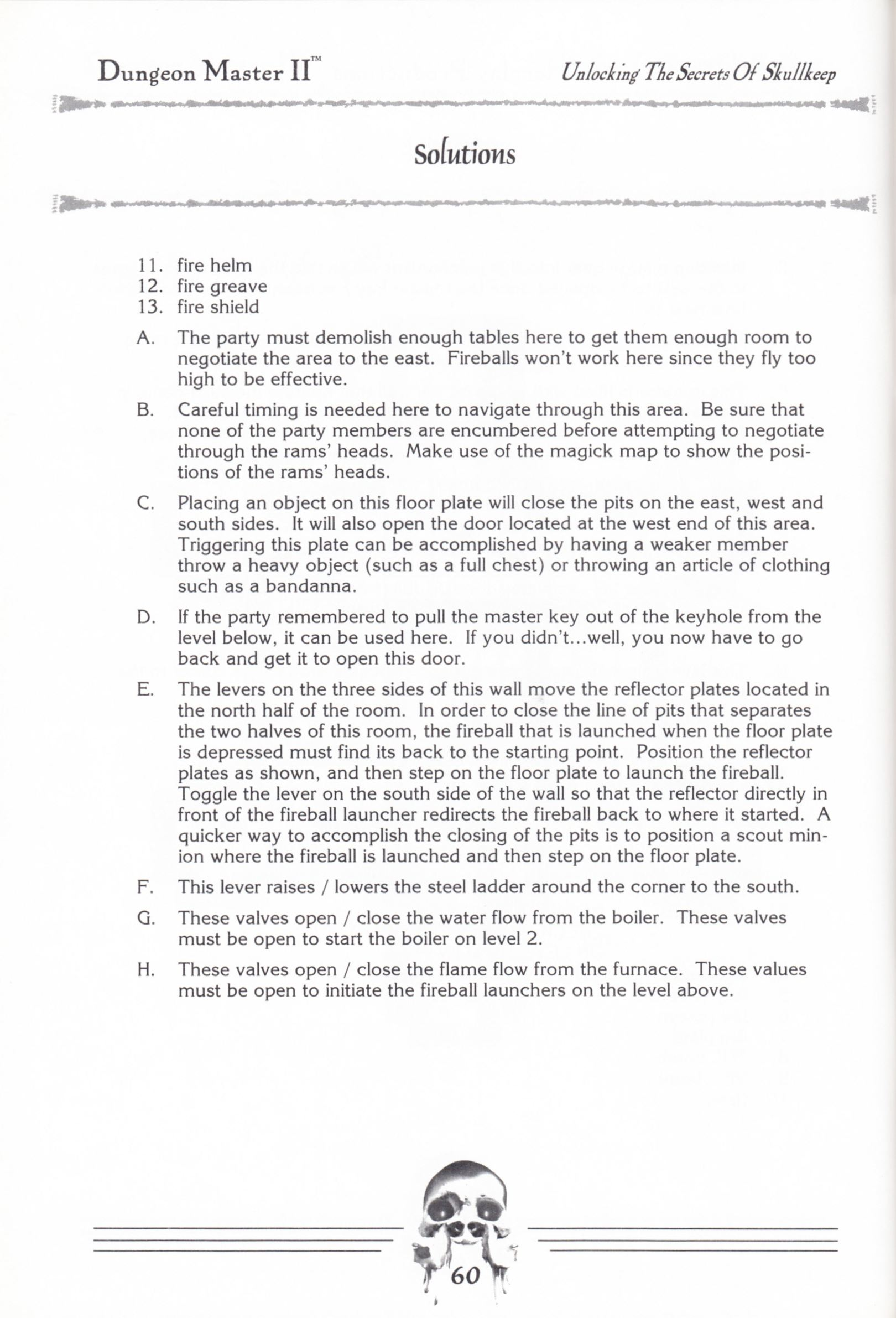 Hint Book - Dungeon Master II Clue Book - US - Page 062 - Scan