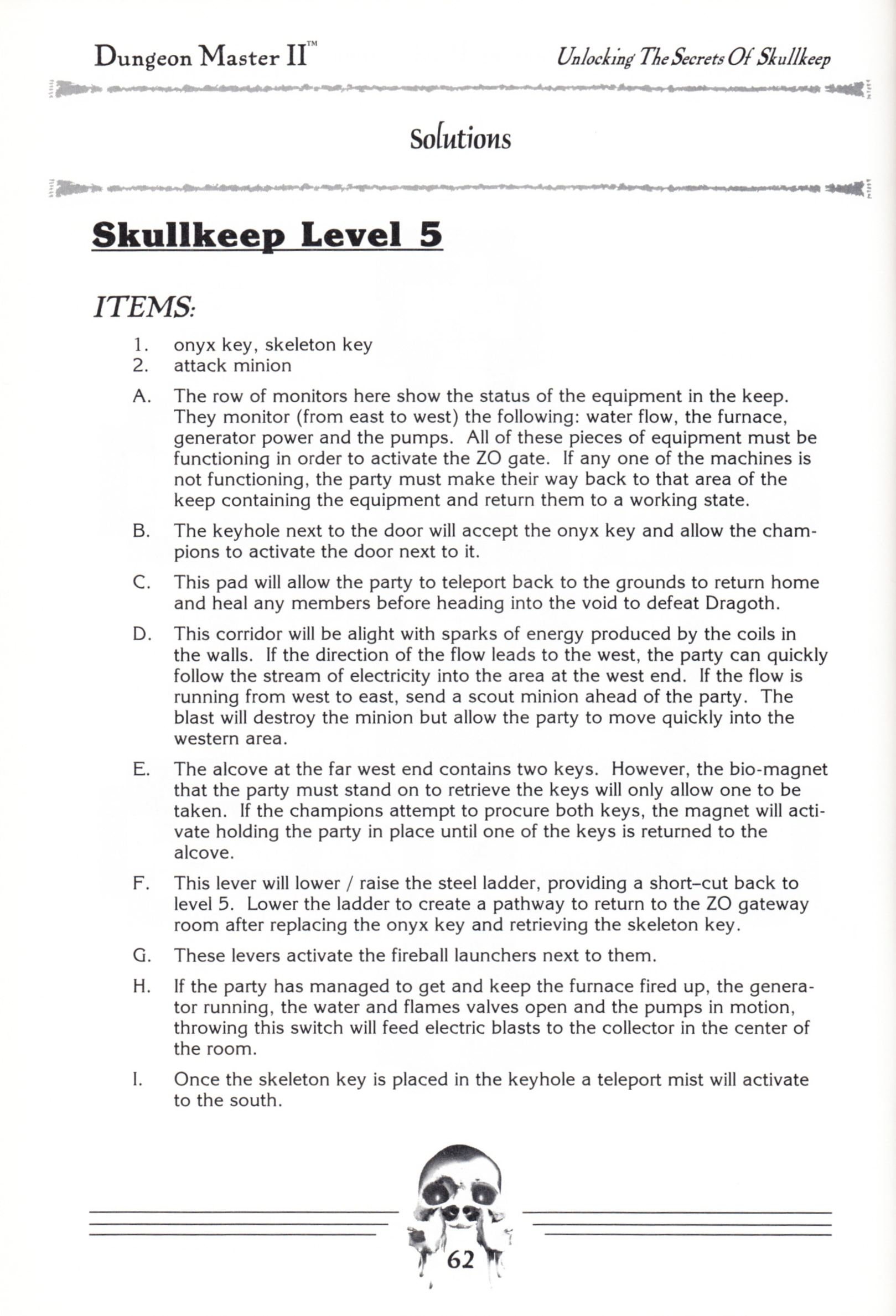 Hint Book - Dungeon Master II Clue Book - US - Page 064 - Scan
