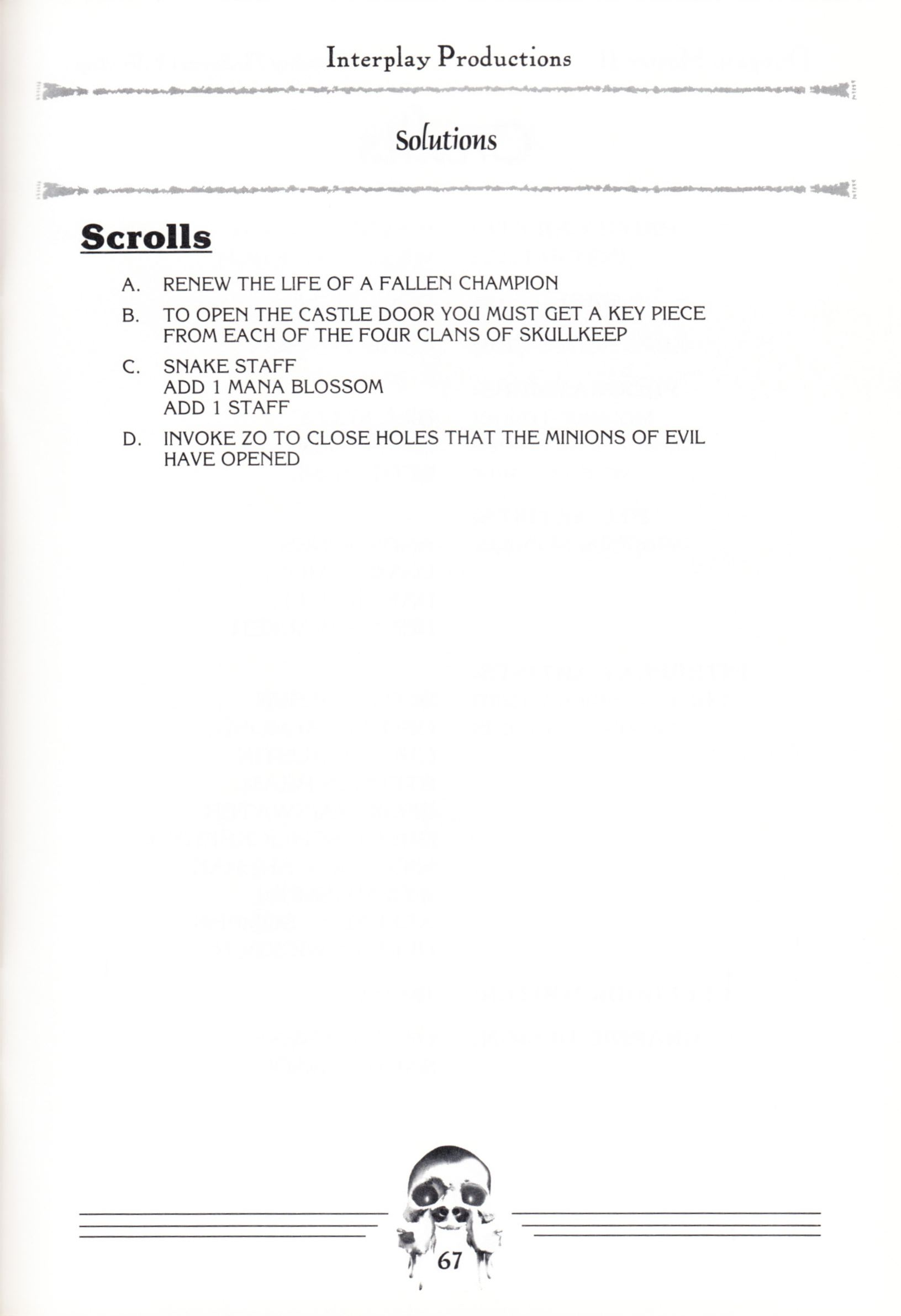 Hint Book - Dungeon Master II Clue Book - US - Page 069 - Scan