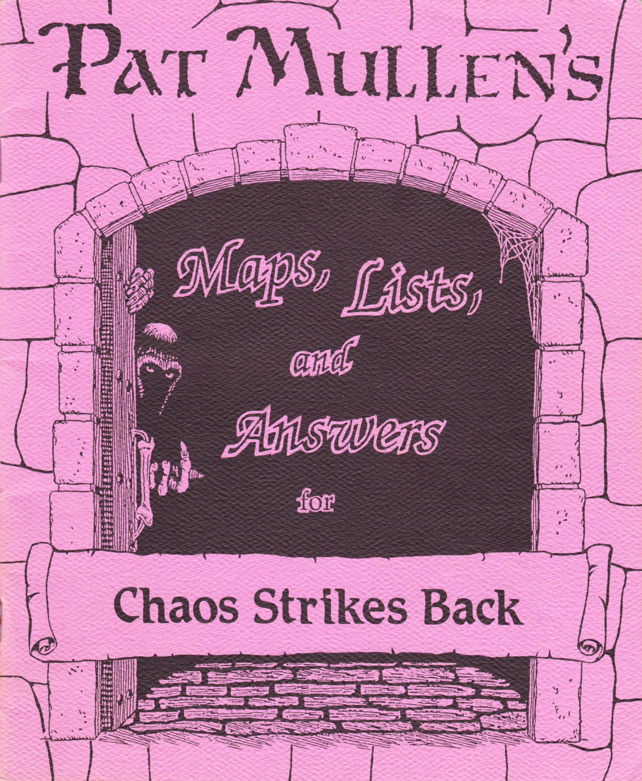 Hint Book - Pat Mullen's Maps, Lists, And Answers For Chaos Strikes Back - US - Page 001 - Scan