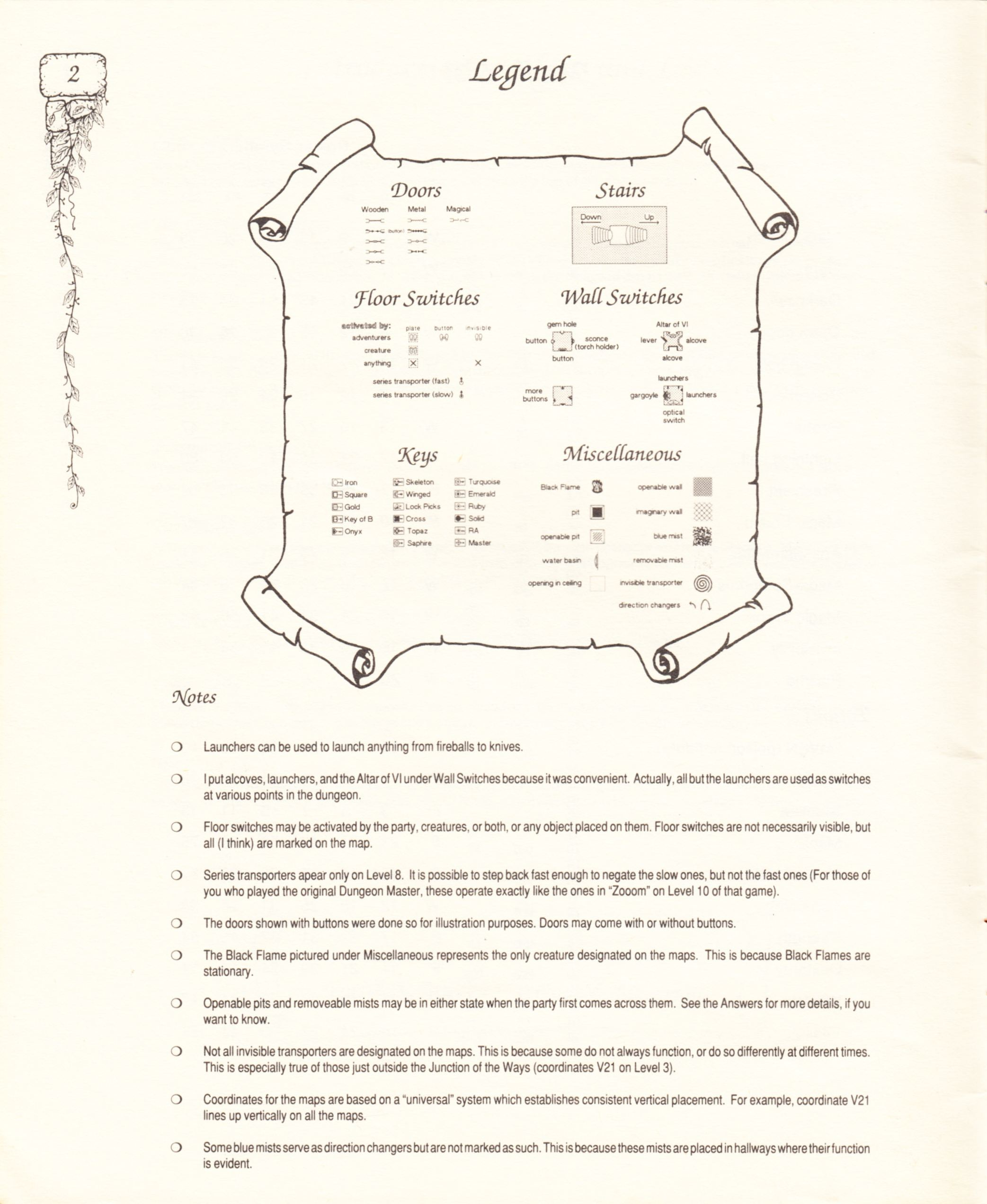 Hint Book - Pat Mullen's Maps, Lists, And Answers For Chaos Strikes Back - US - Page 006 - Scan